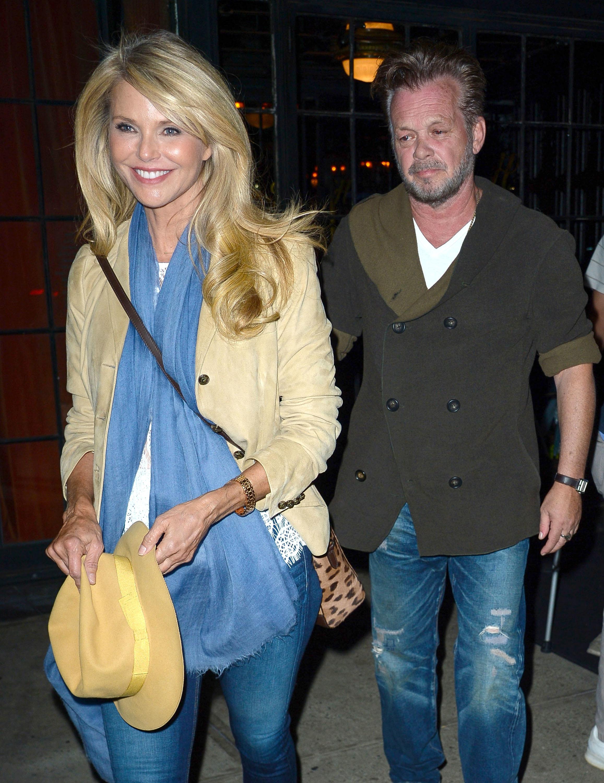 brinkley christie mellencamp john dating hair dinner date nyc beau candid couple dress husband ryan dates gets mill taubman richard