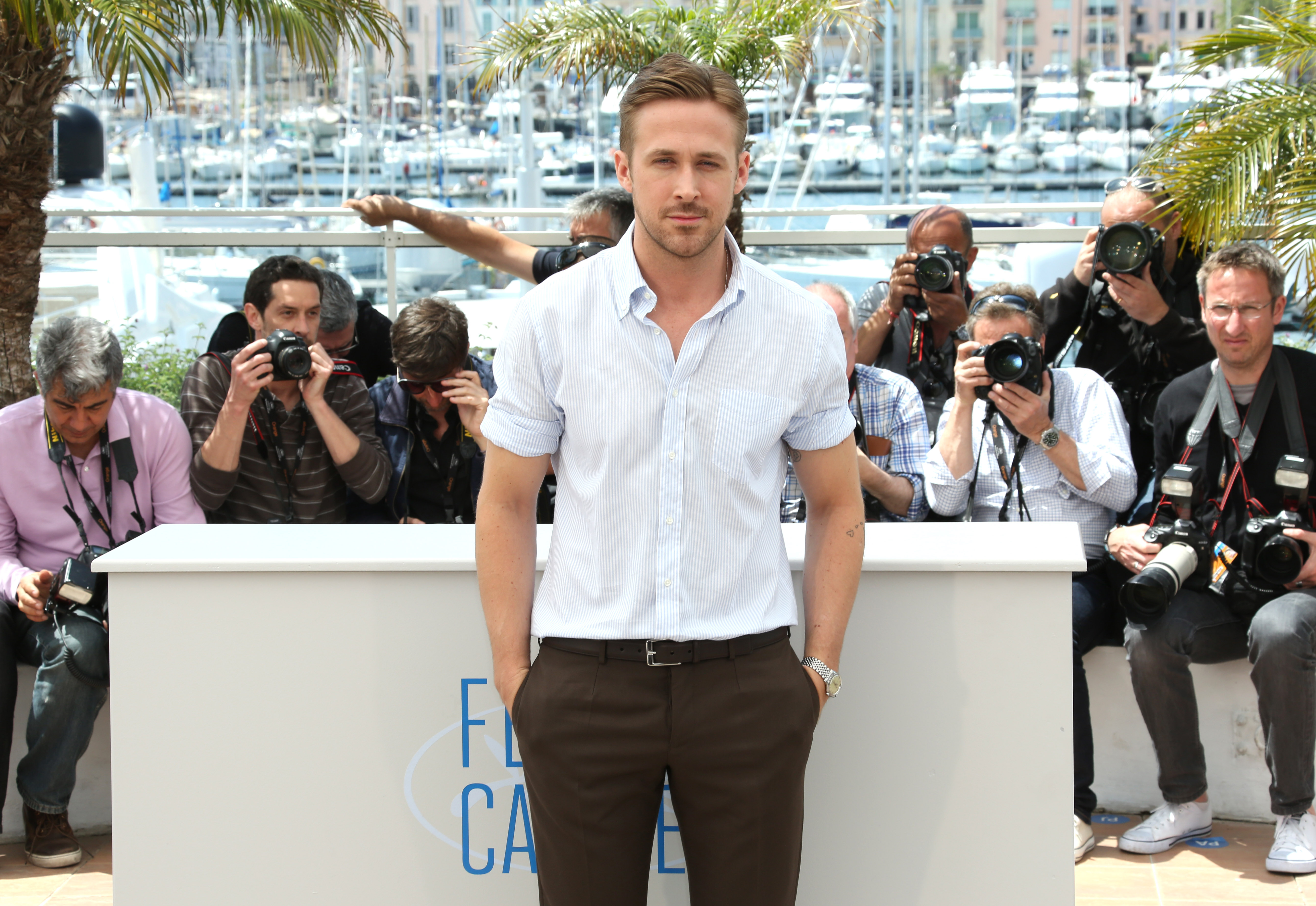 Ryan Gosling rescues a pup