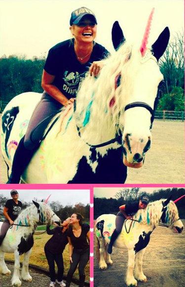 Miranda Lambert celebrates her birthday with a unicorn ride