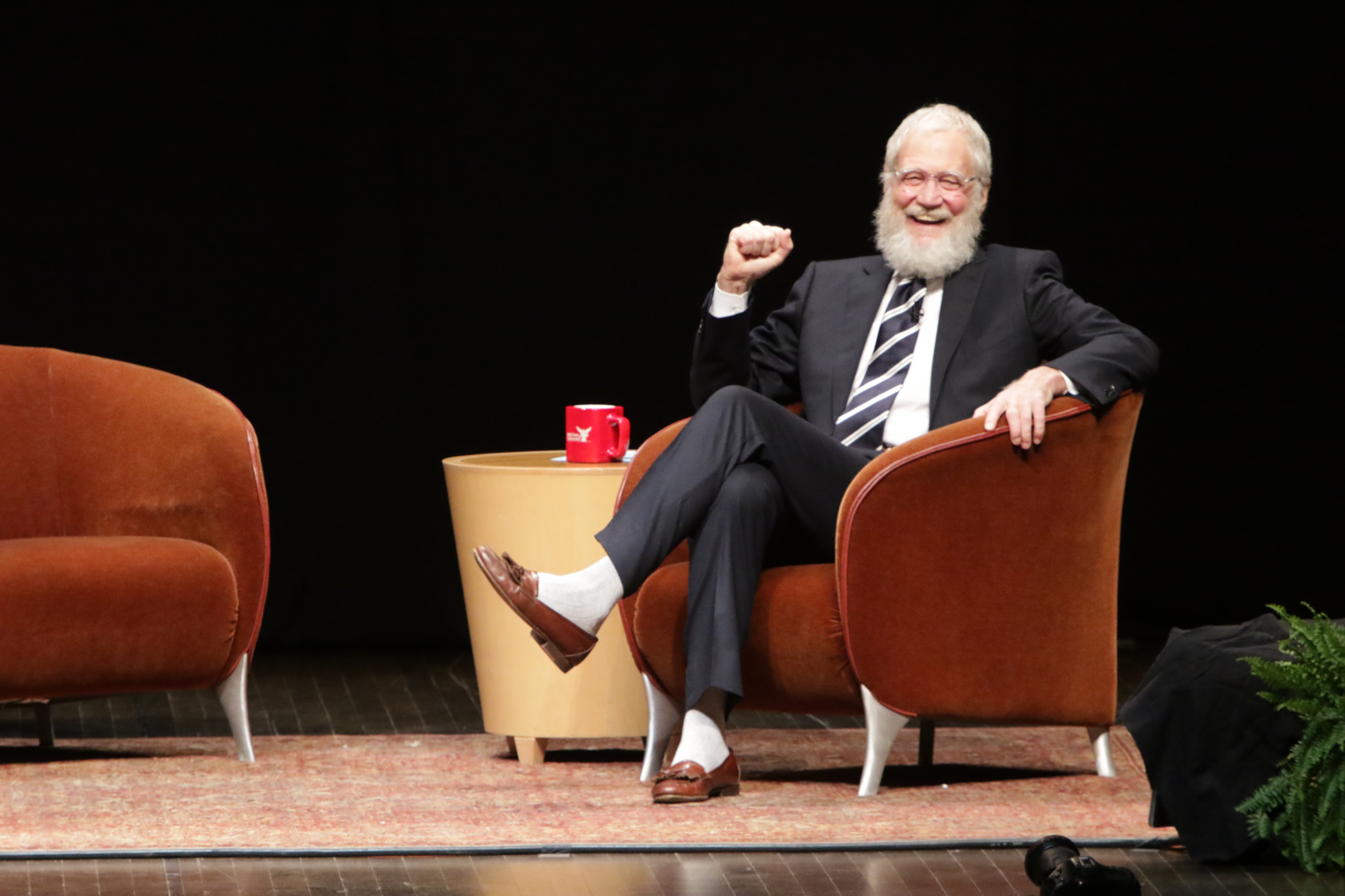 David Letterman's friends don't recognize him with his retirement beard