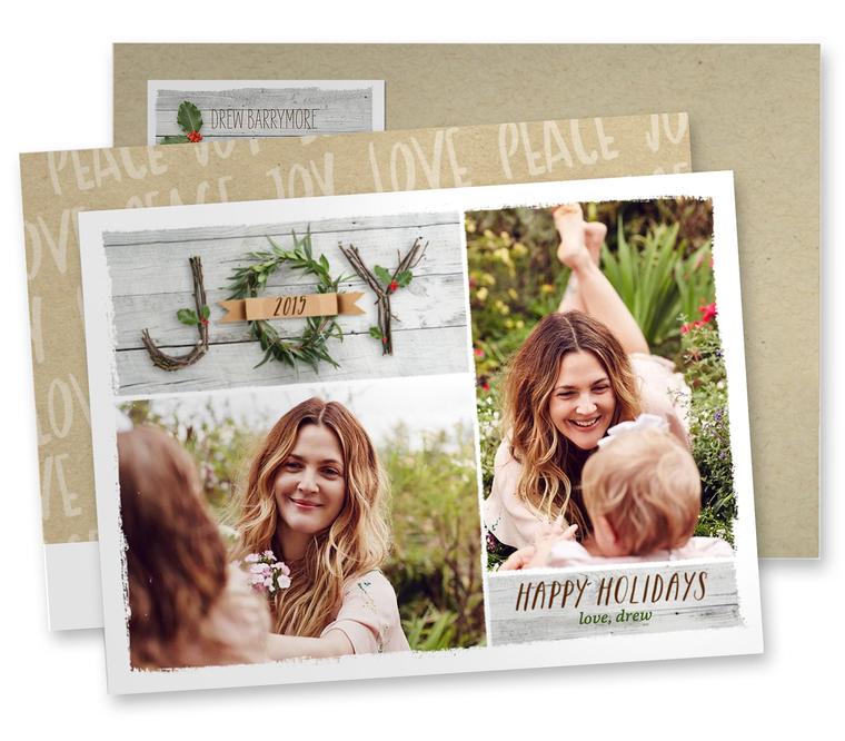drewa barrymore holiday card 2015
