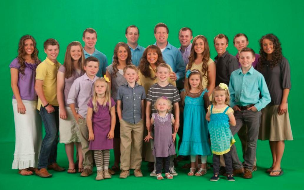 The Duggar Family poses for a photo on their Facebook page.