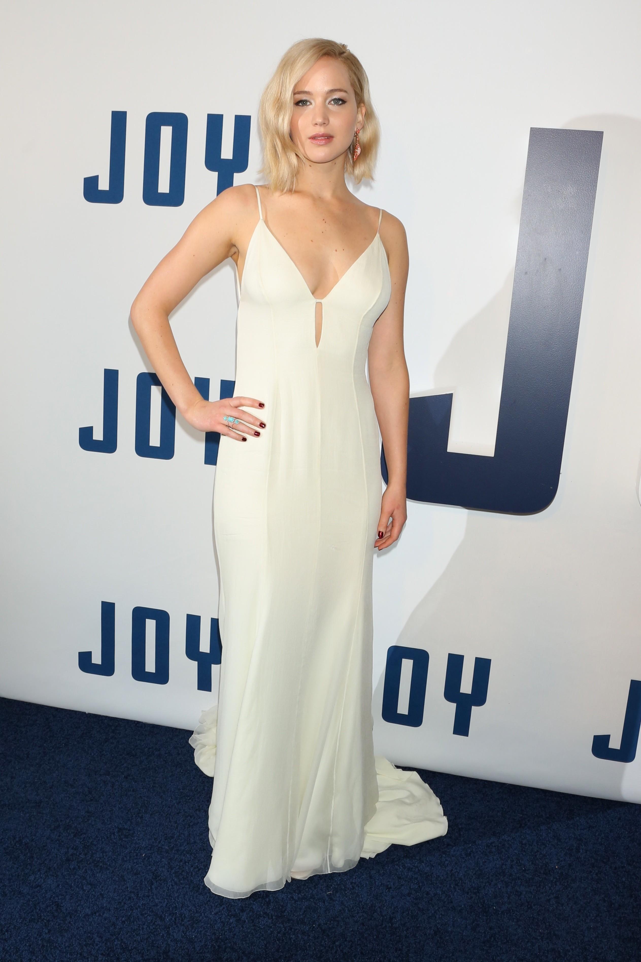 jennifer lawrence white dress joy