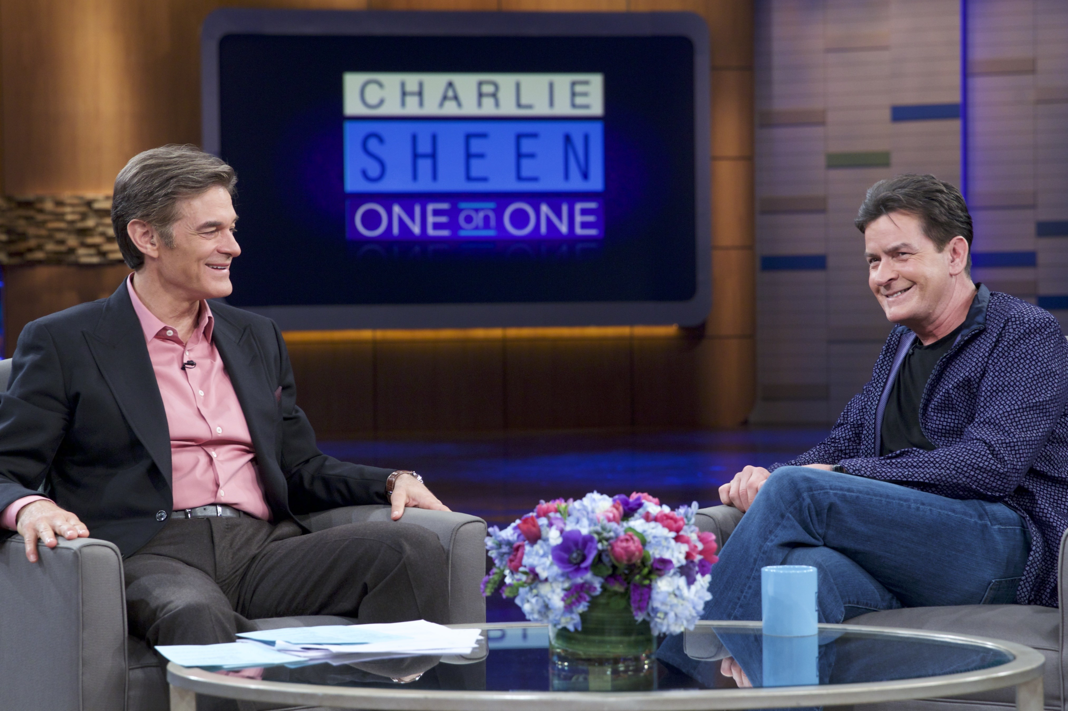 Dr. Oz and Charlie Sheen Photo
