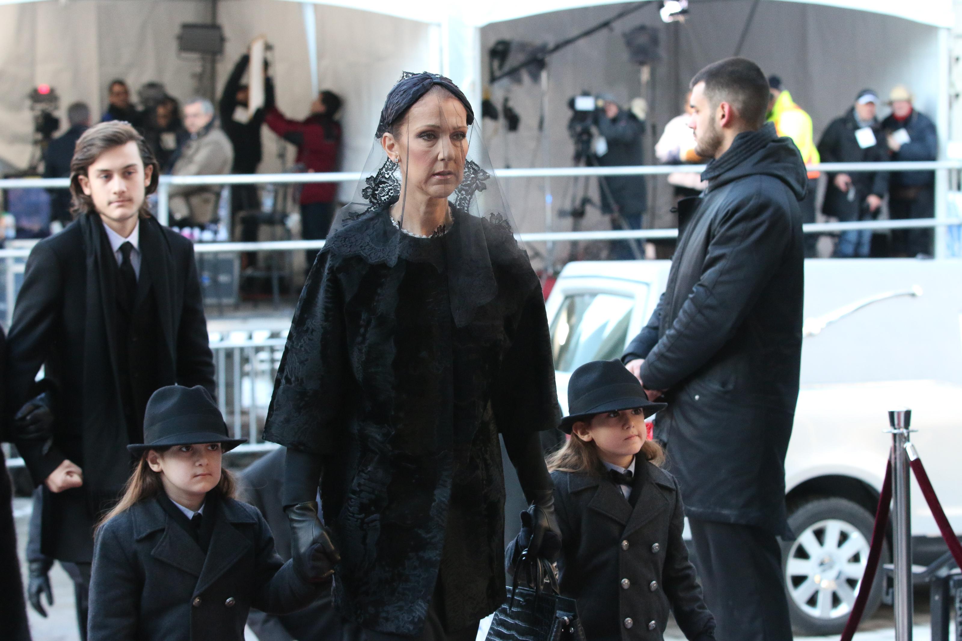celine dion husband emotional funeral