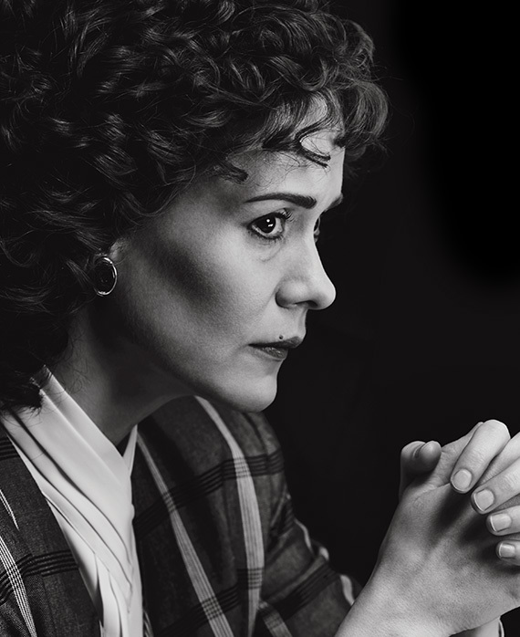 "Sarah Paulson as Marcia Clark on ""The People vs. O.J. Simpson"""