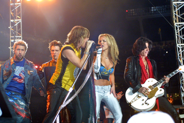 Aerosmith and *NSYNC in 2001