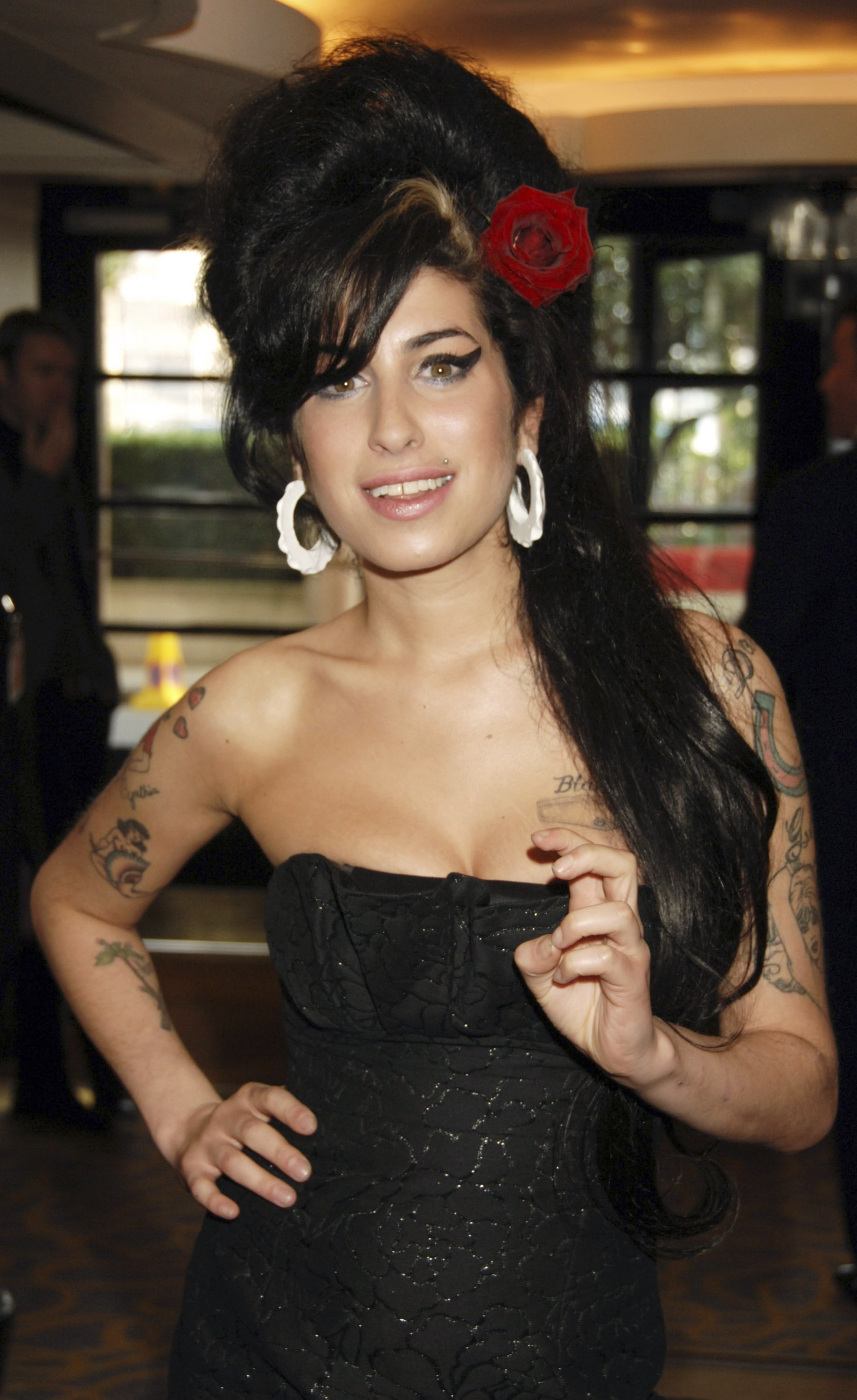 Amy Winehouse arrives at the South Bank Show Awards, at The Savoy Hotel in London on Jan. 23, 2007.