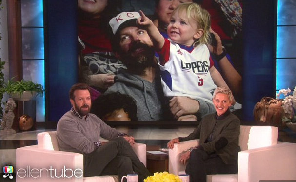 Jason Sudeikis and Olivia Wilde's son attends his first NBA game