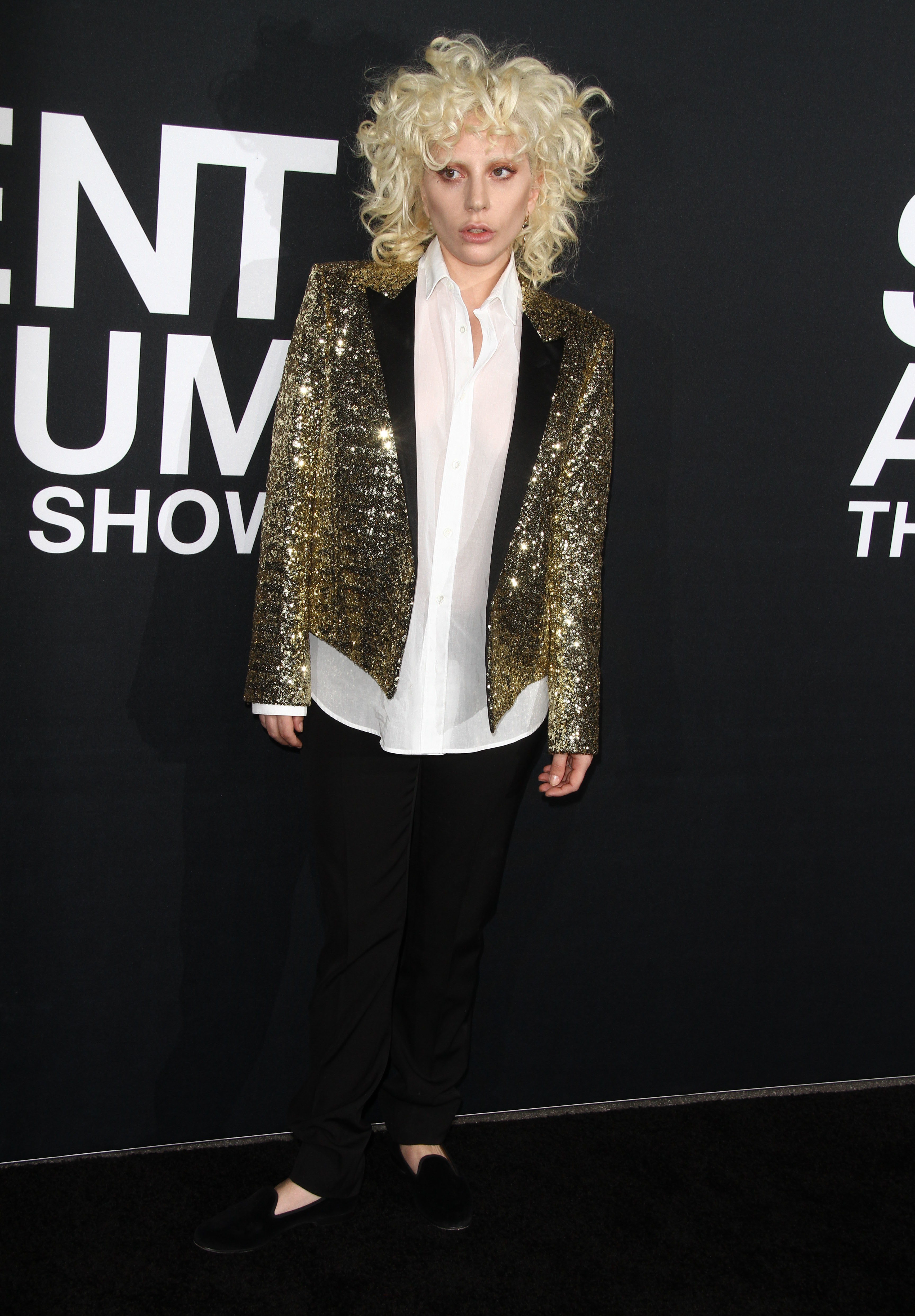 Lady Gaga debuts a new look for Saint Laurent