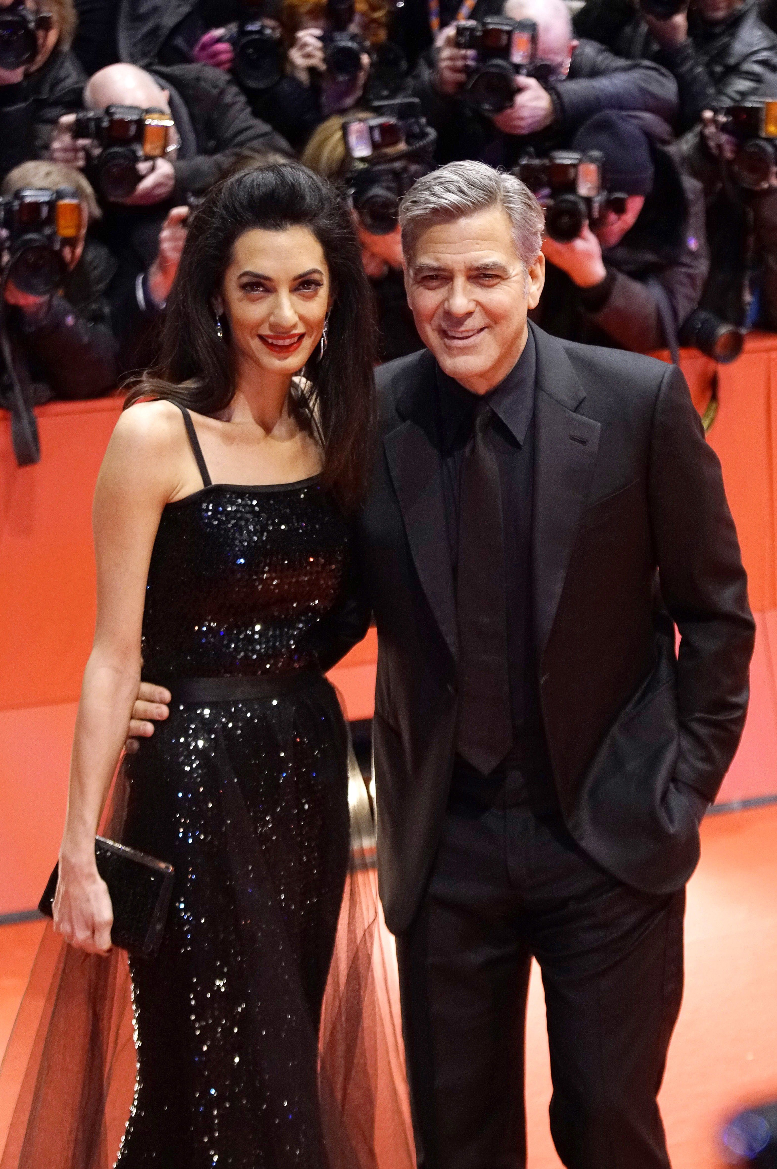 George Clooney and Amal want you to meet Hillary Clinton at their house