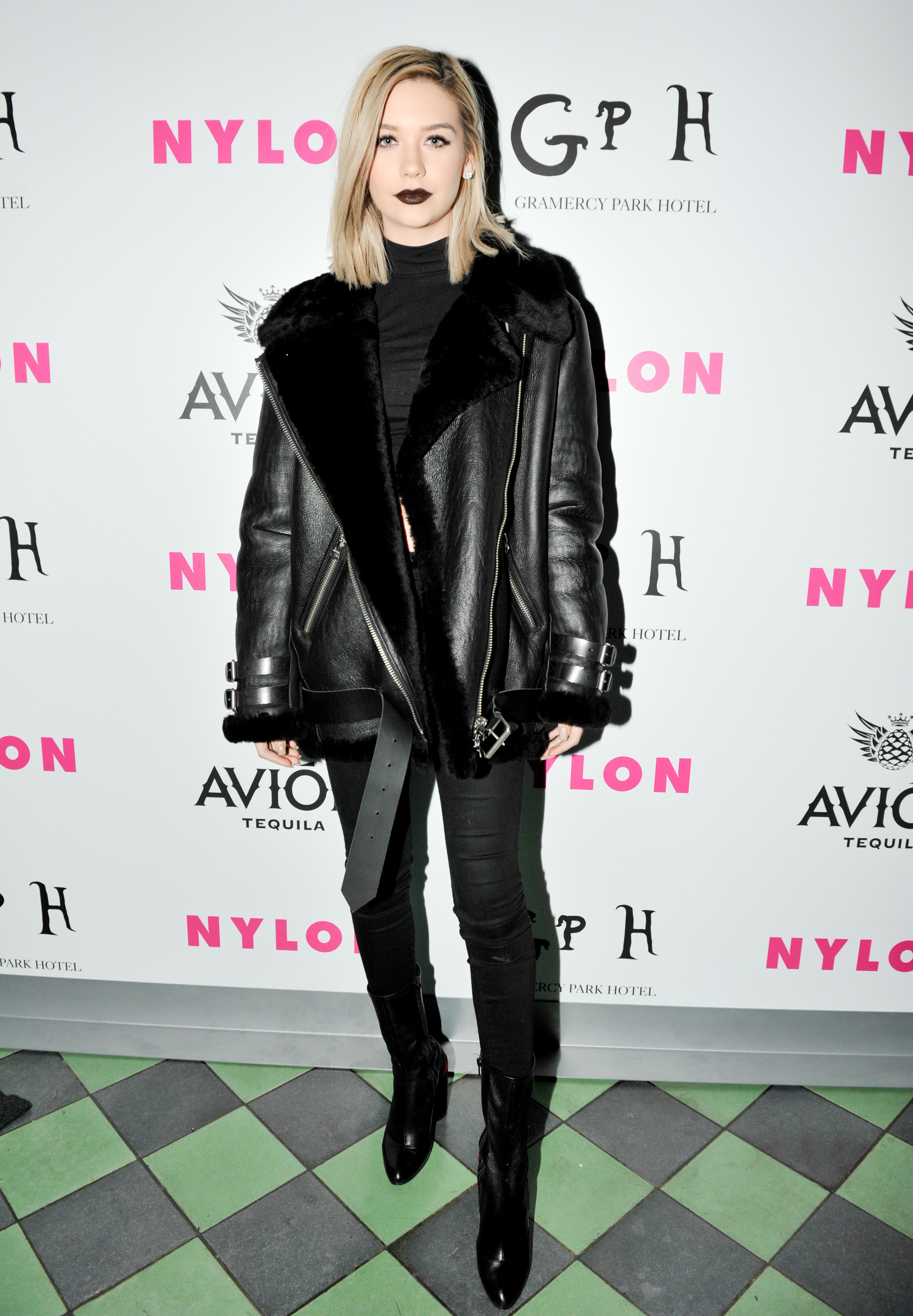 Amanda Steele attends Nylon Celebrates Fashion Week event at the Rose Bar in New York City on Feb. 11, 2016.