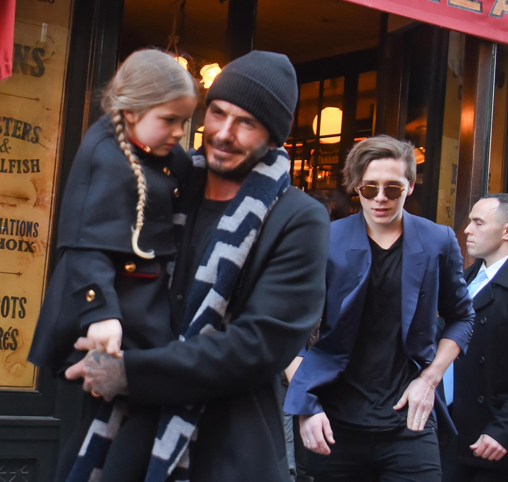 David Beckham talks family movie night
