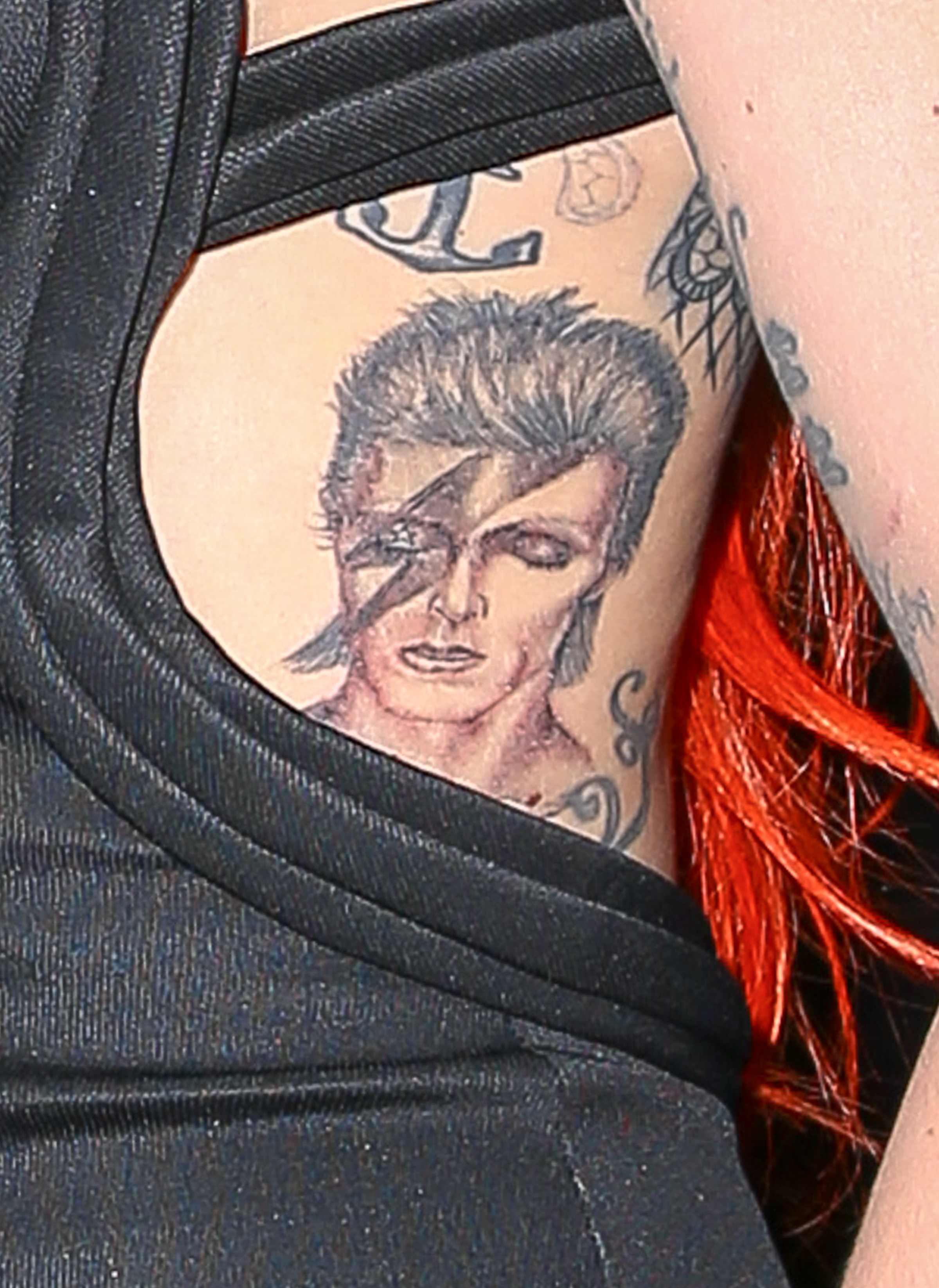 Lady gaga celebrity tattoos of 2016 gallery for Bowie tattoo ideas