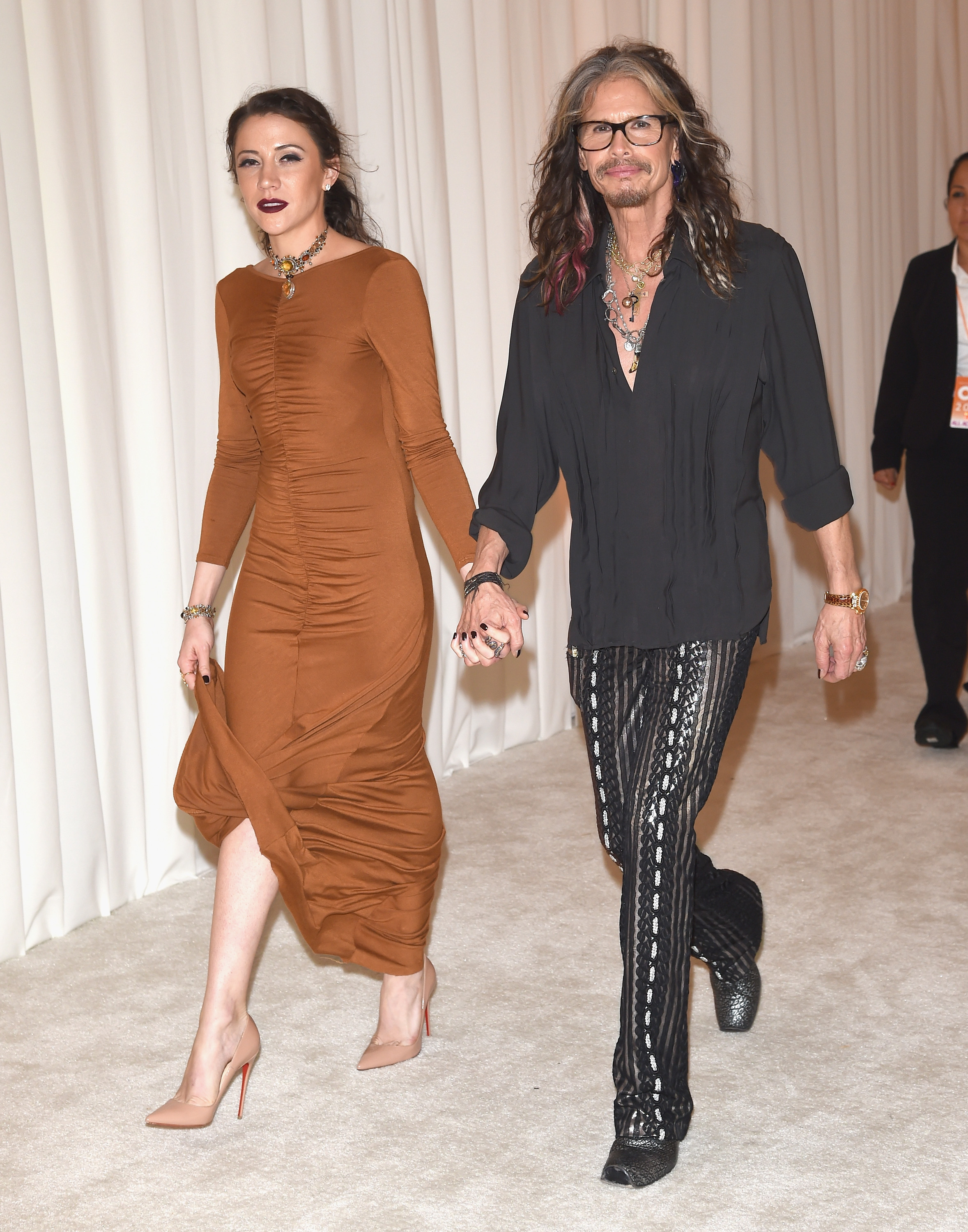 Steven Tyler is reportedly living with his much younger assistant
