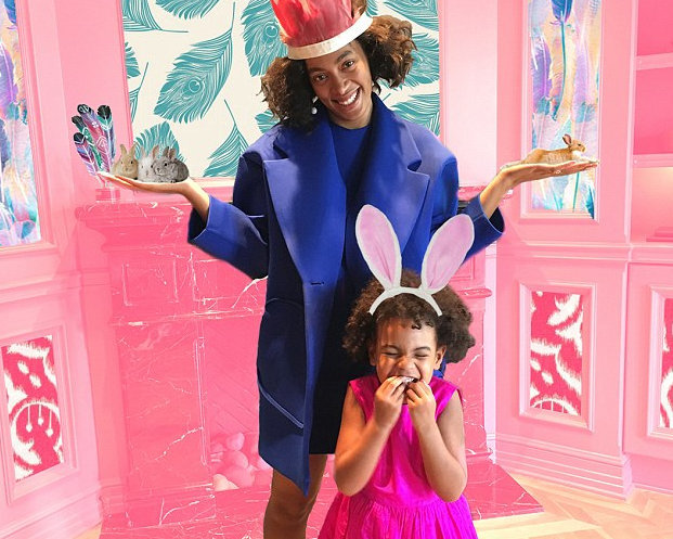 Beyonce, Blue Ivy and Solange had an early Easter tea party