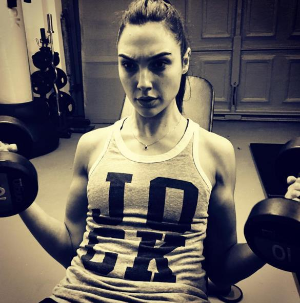 10. She trained hard to play Wonder Woman