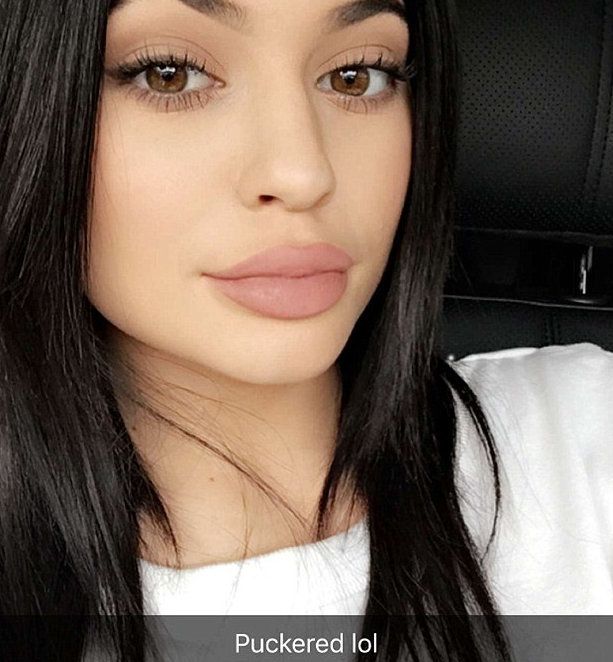 Kylie Jenner's plush pucker is all about the pose