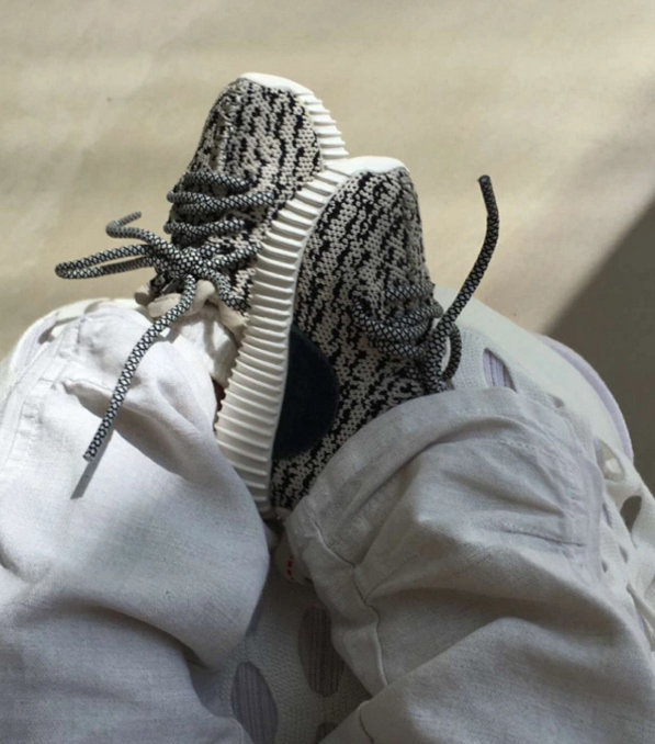 Saint West debuts infant sized Yeezys