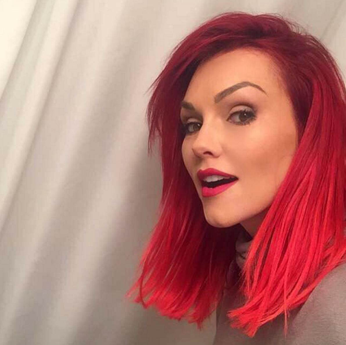 """Life's too short to have the same hair too long....I am in love with my new hair cut and ""red bré"" that @nikkimitchell20 gave me!""  Kandee Johnson, who posted this photo in March 2016."