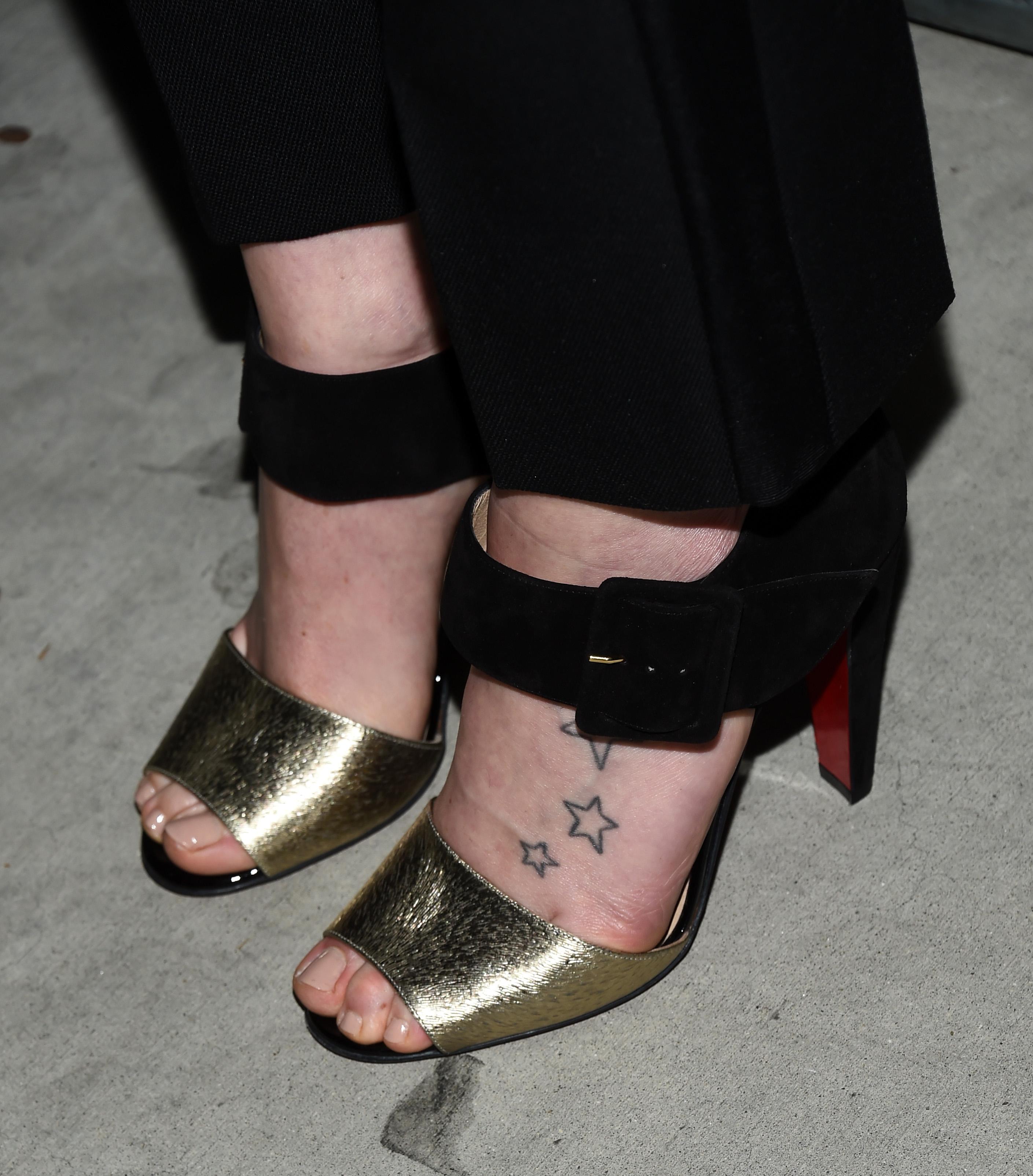 3. She got a tattoo as a teen