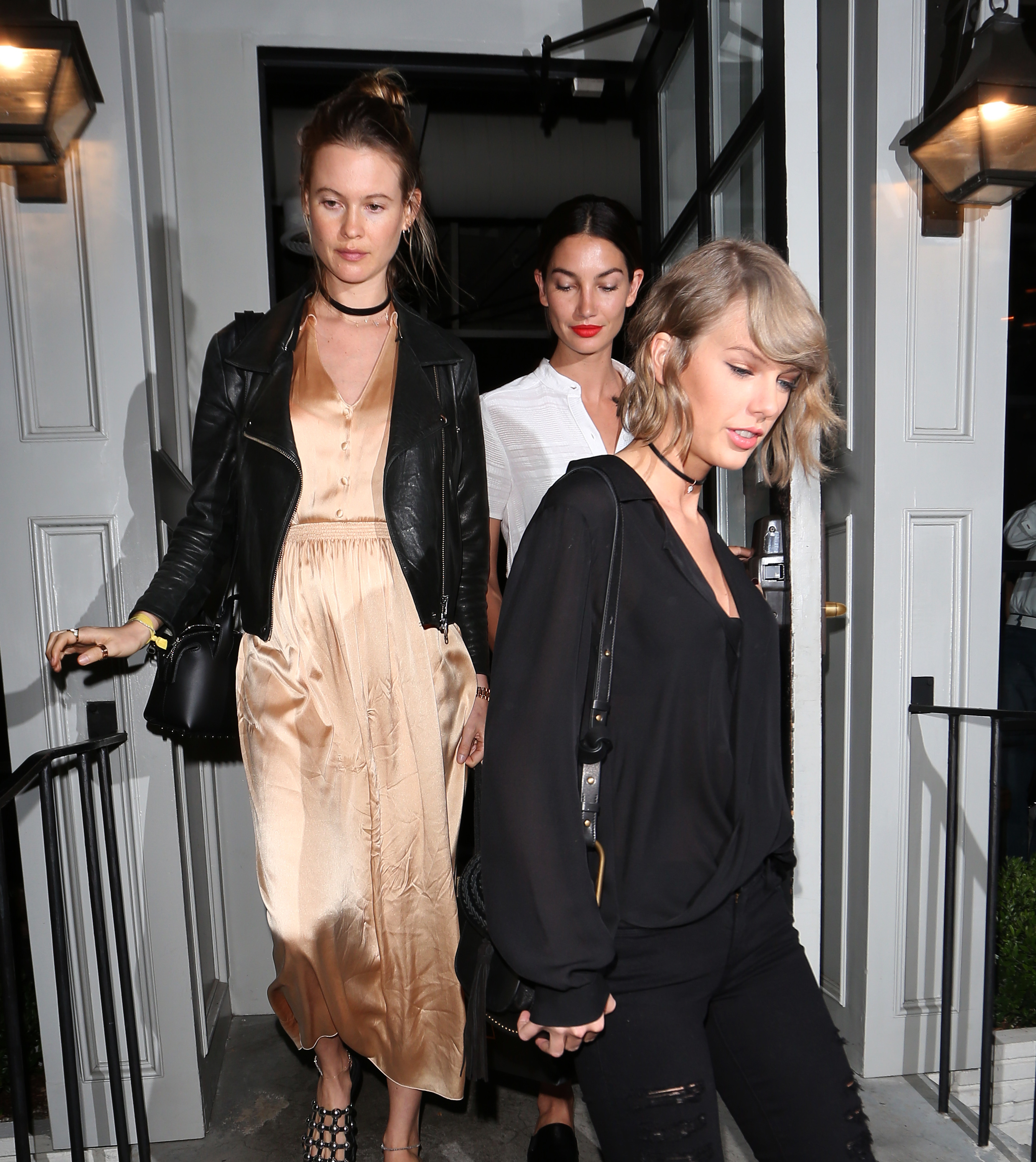 Taylor Swift steps out with pregnant squad member Behati Prinsloo