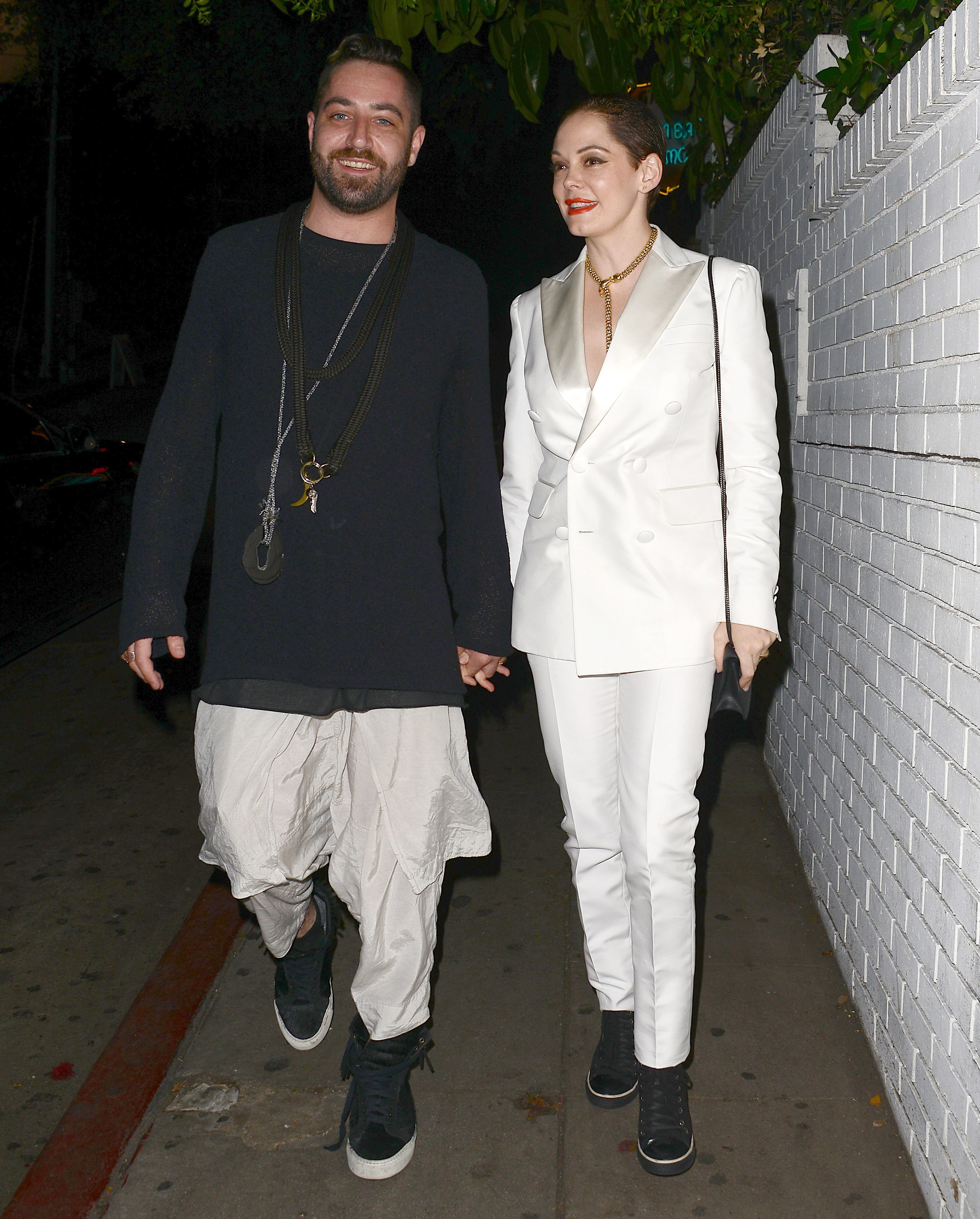 Rose McGowan and Davey Detail