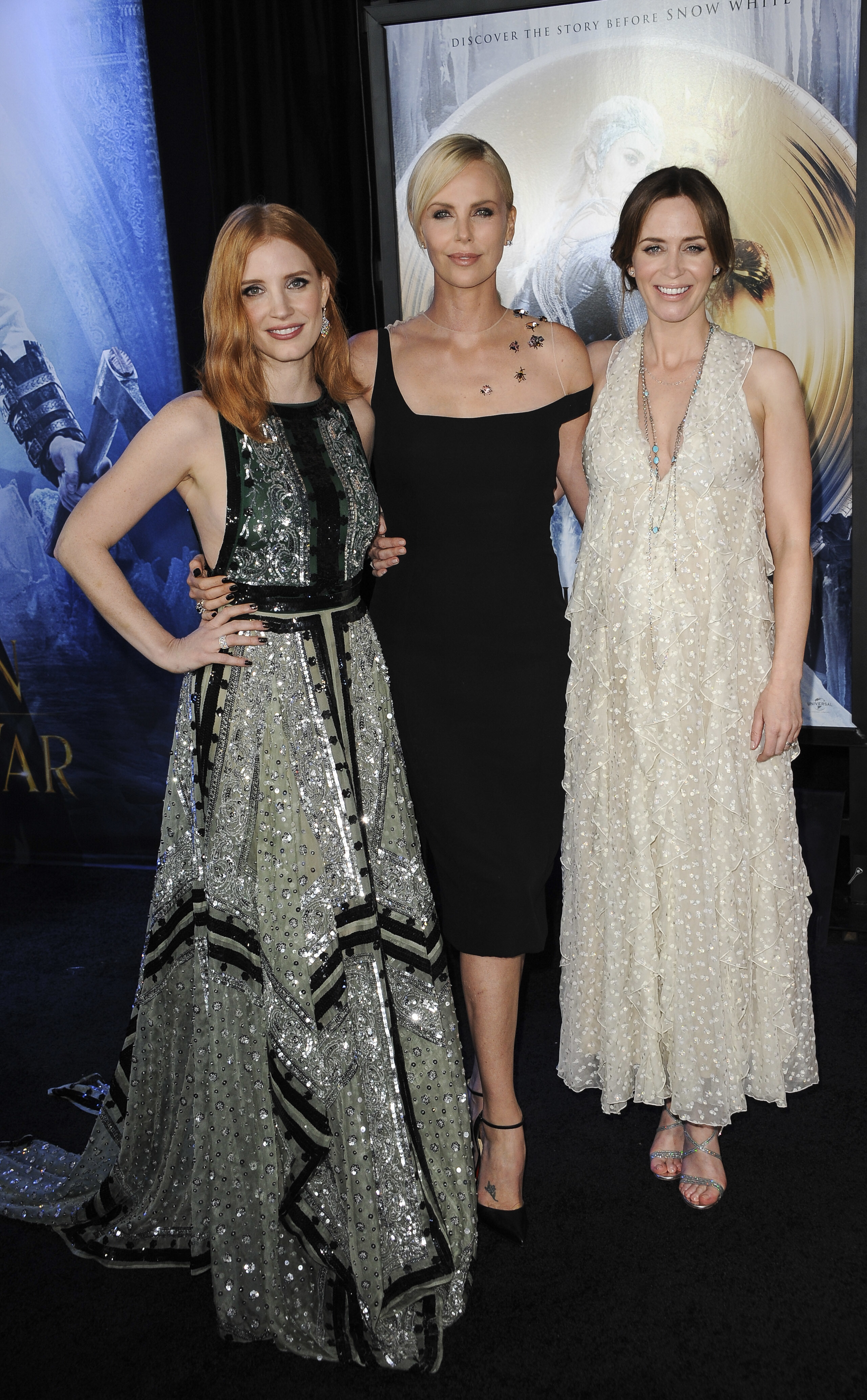 jessica chastain charlize theron emily blunt