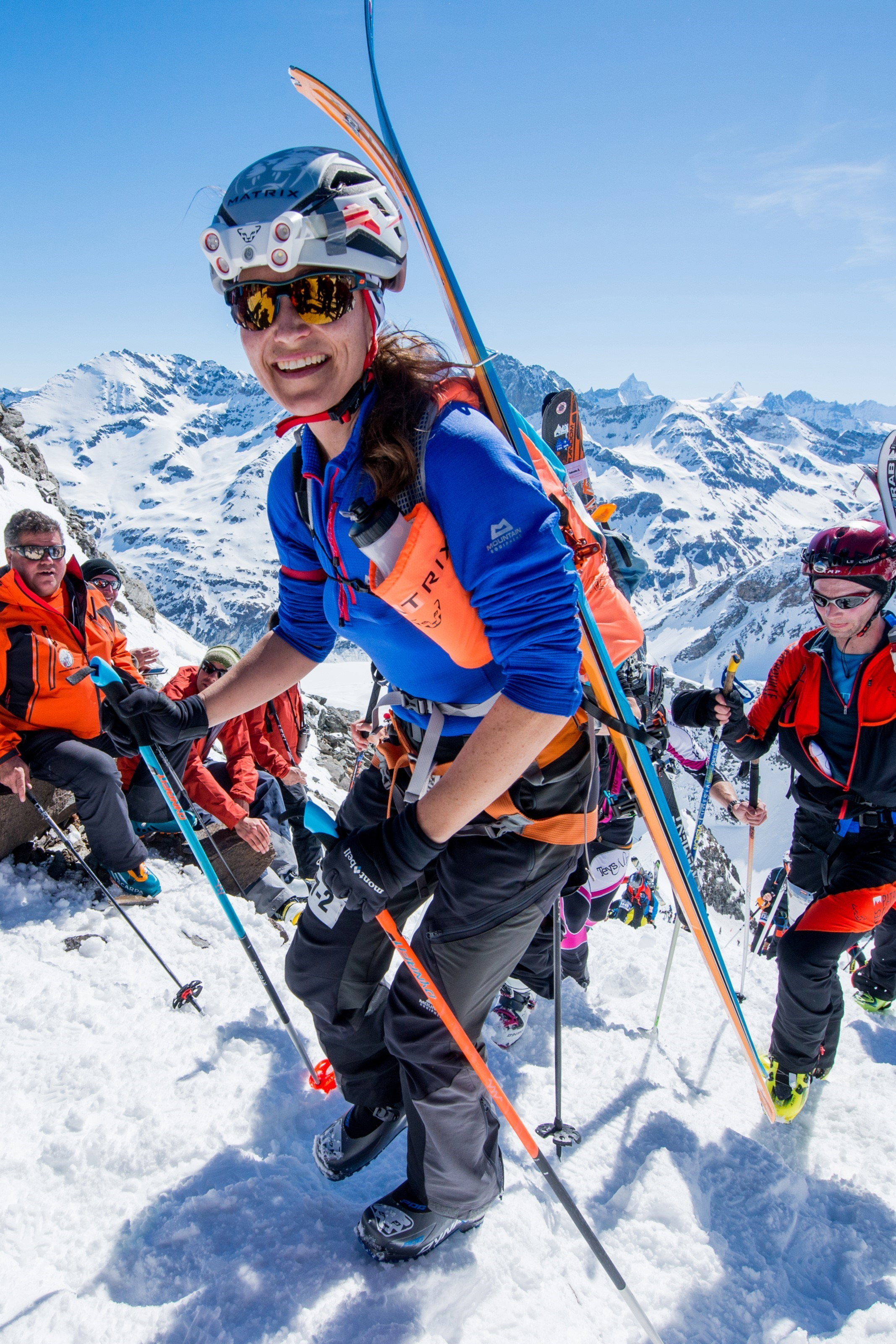Pippa Middleton climbs the Swiss Alps
