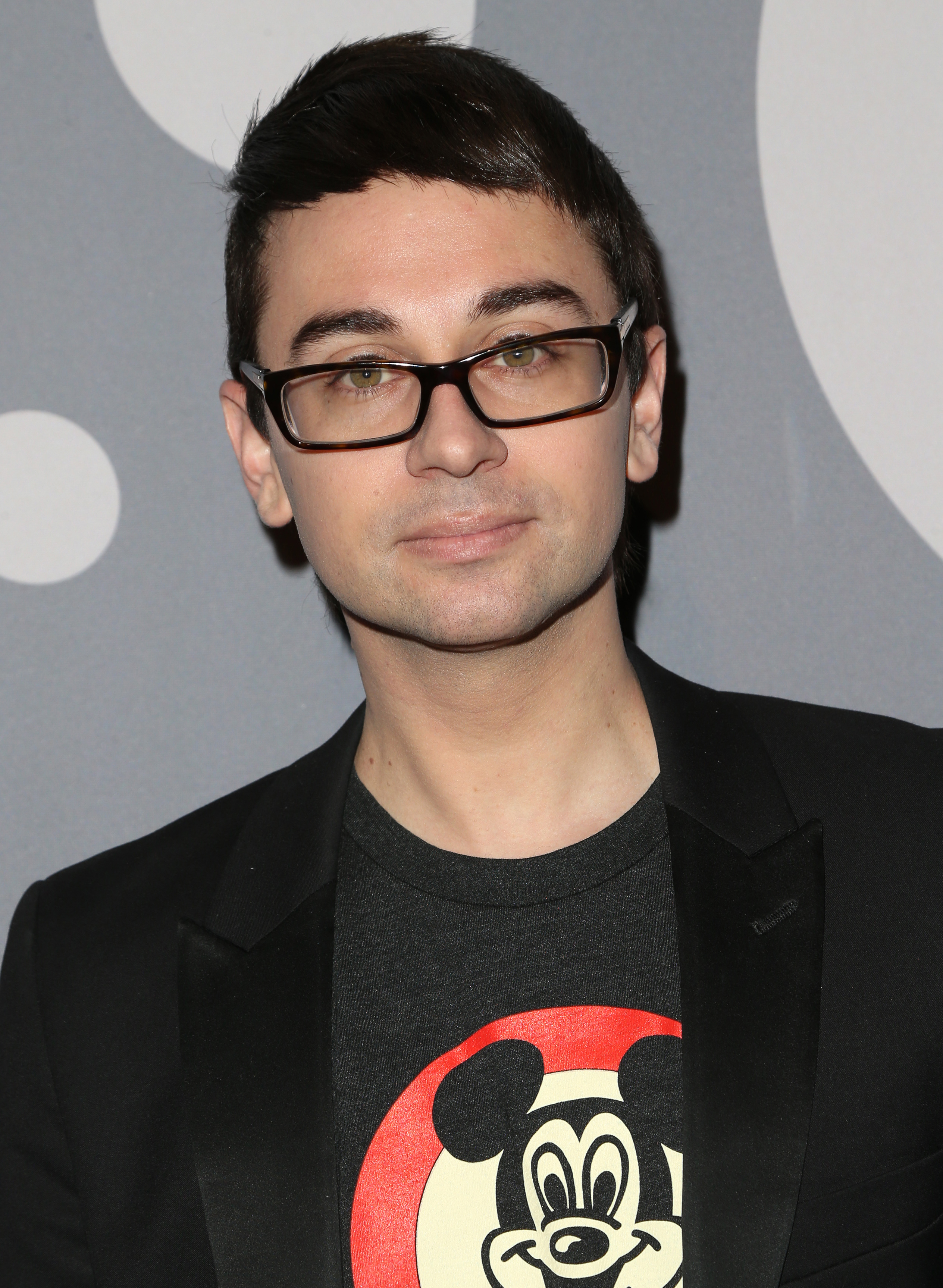 Christian Siriano attends Minnie Mouse Rocks The Dots Art And Fashion Exhibit with Refinery 29 in Los Angeles on Jan. 22, 2016.