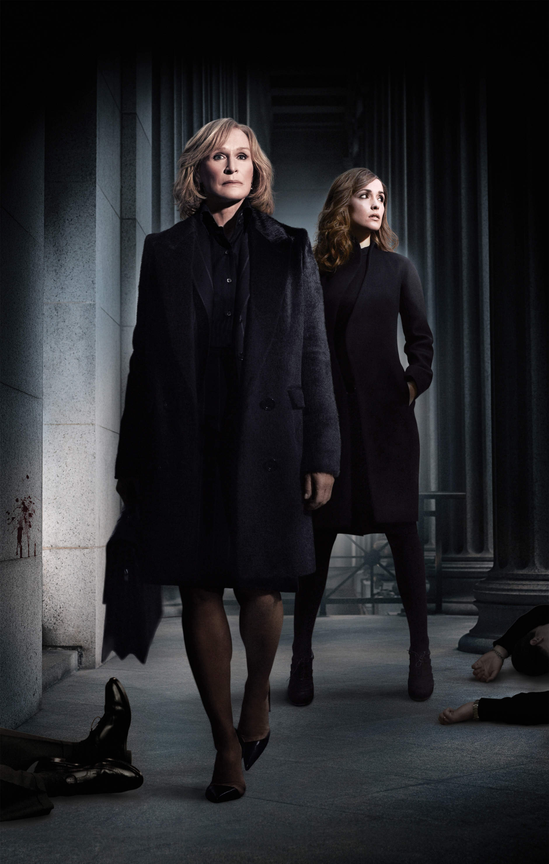 """Glenn Close as Petty Hewes and Rose Byrne as Ellen Parsons on """"Damages"""""""