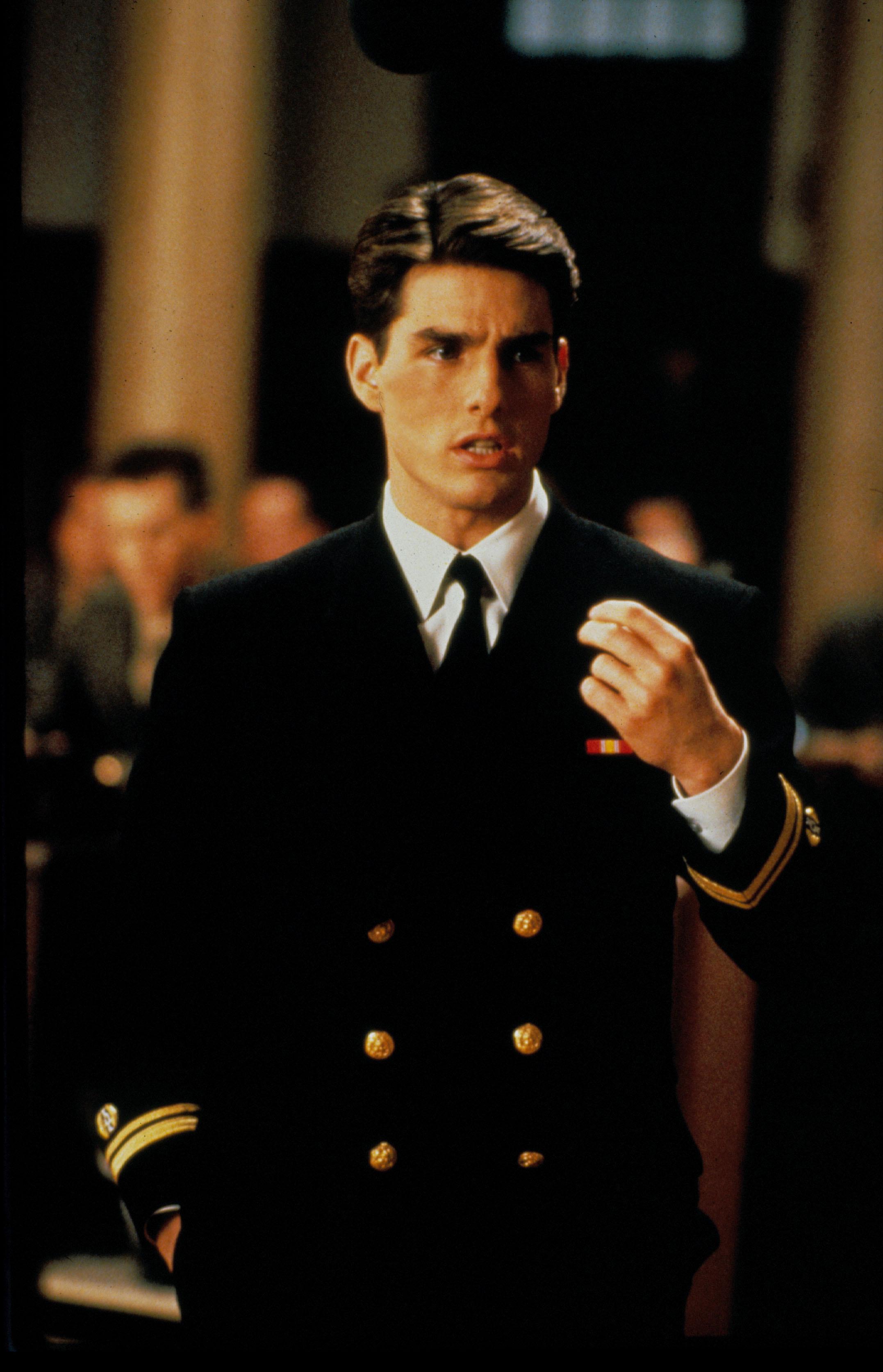 "Tom Cruise as Lt. Daniel Kafee in ""A Few Good Men"""