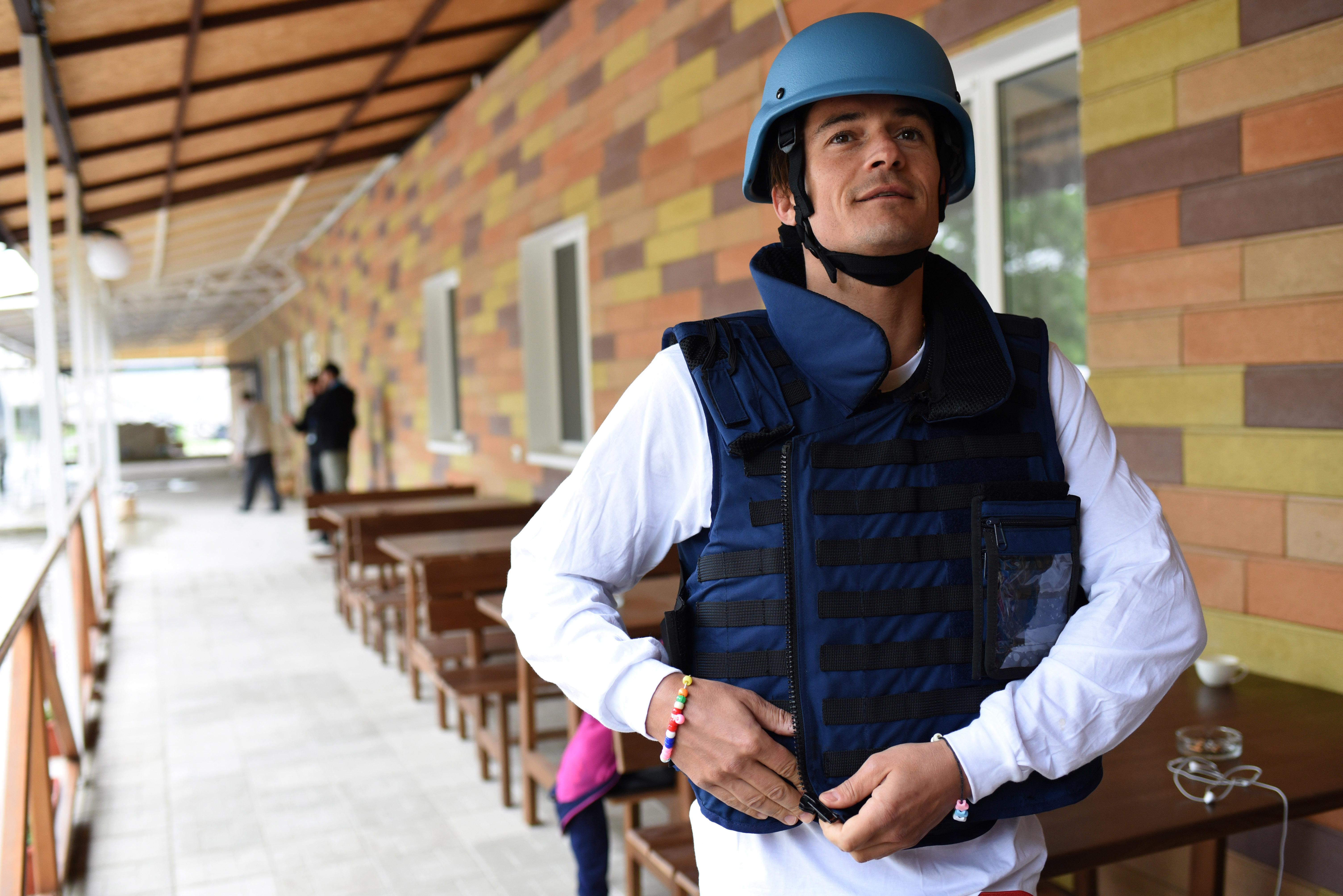 Orlando Bloom visits Ukraine on UNICEF mission