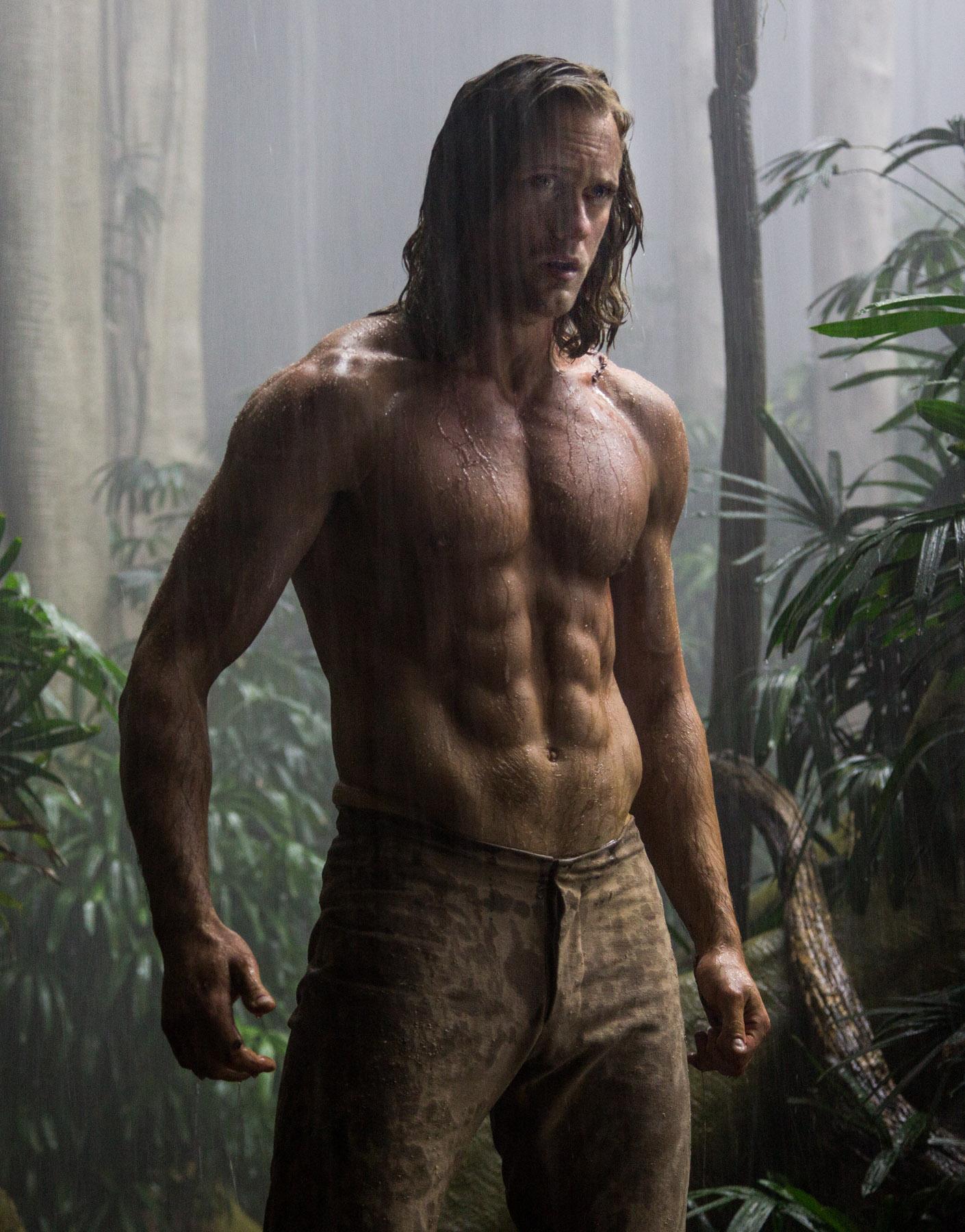 Alexander Skarsgard sizzles in new Tarzan pics