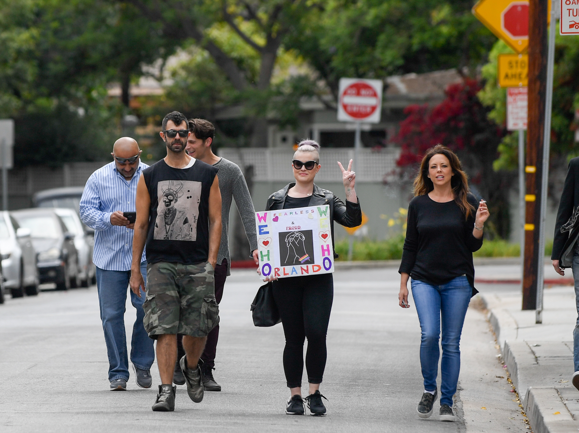 Kelly Osbourne supports Pride after shootings