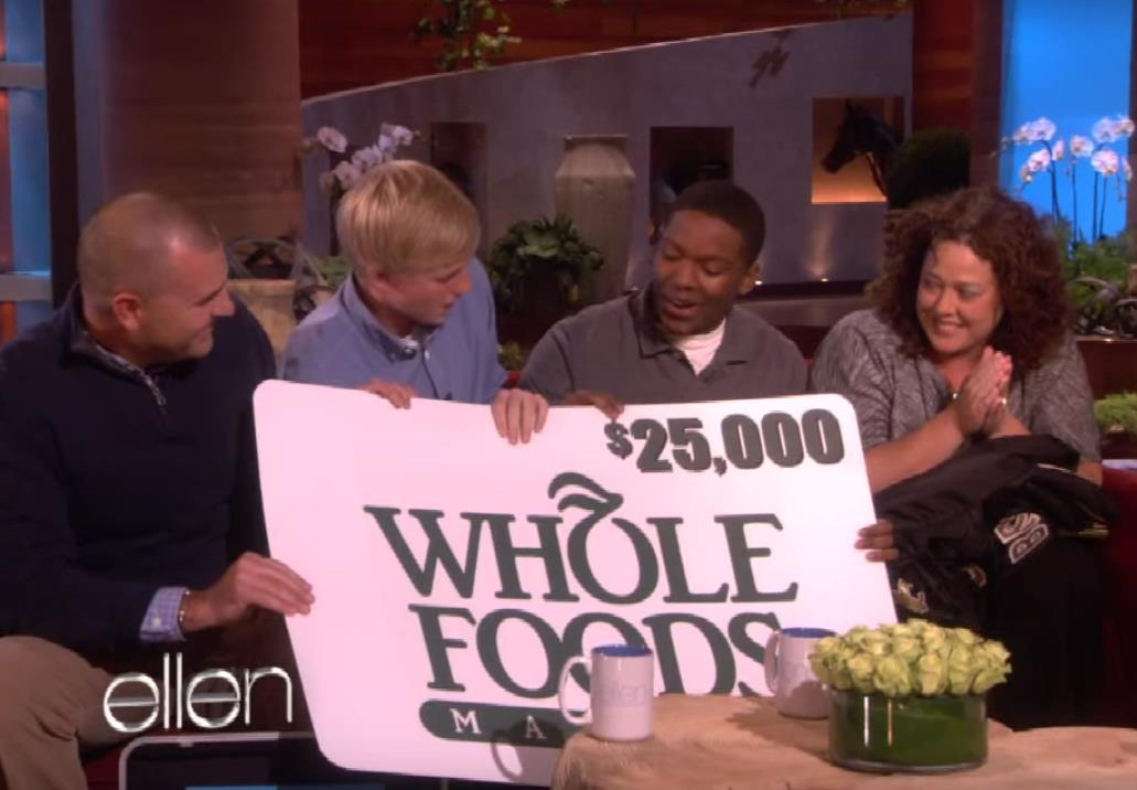 The Jensen family: NFL tickets, jerseys, $10,000 and $25,000 at Whole Foods