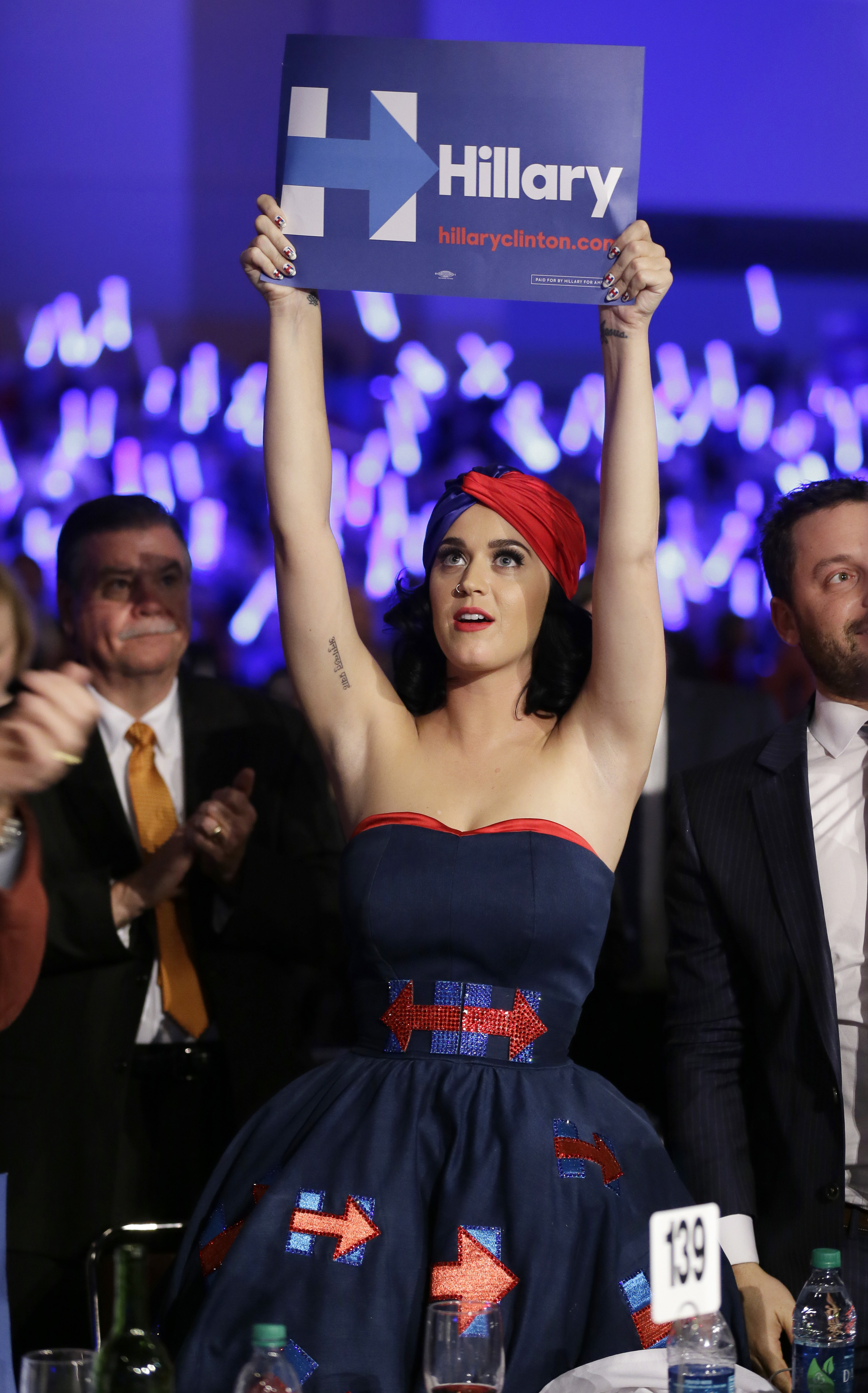 Katy Perry reacts to Donald Trump's second debate performance