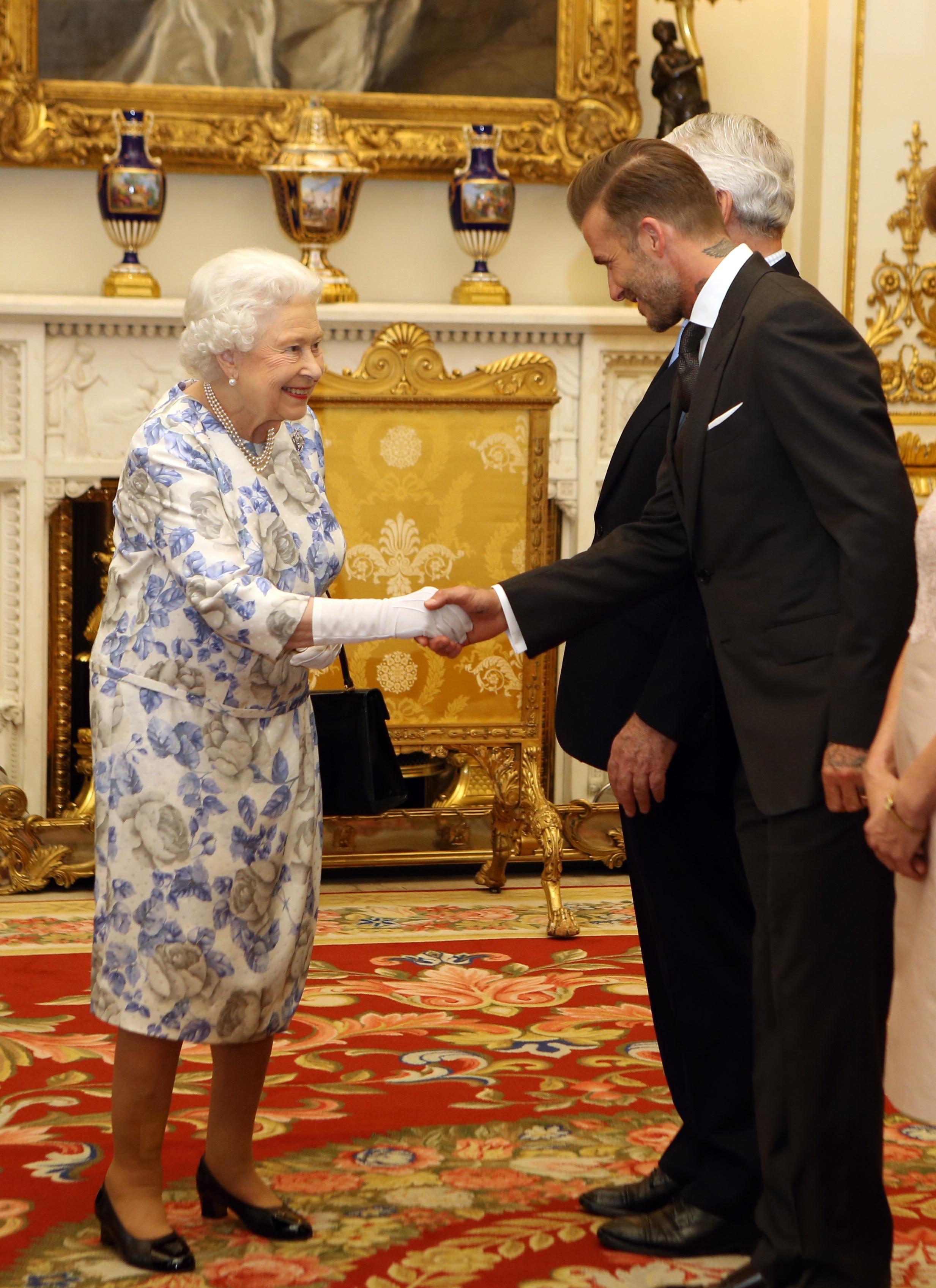 David Beckham reunites with Queen Elizabeth