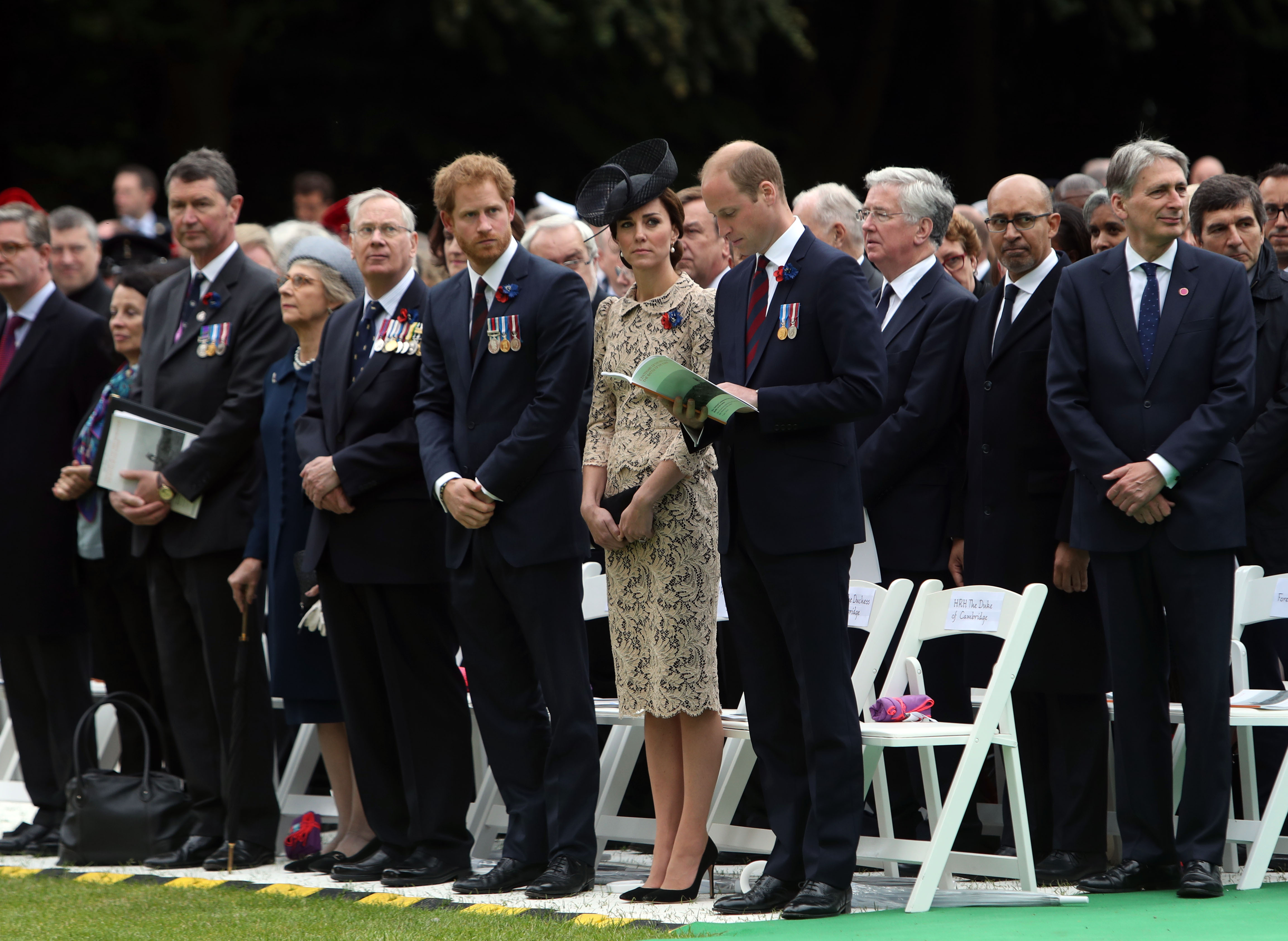 Prince William, Duchess Kate, Prince Harry attend battle vigil