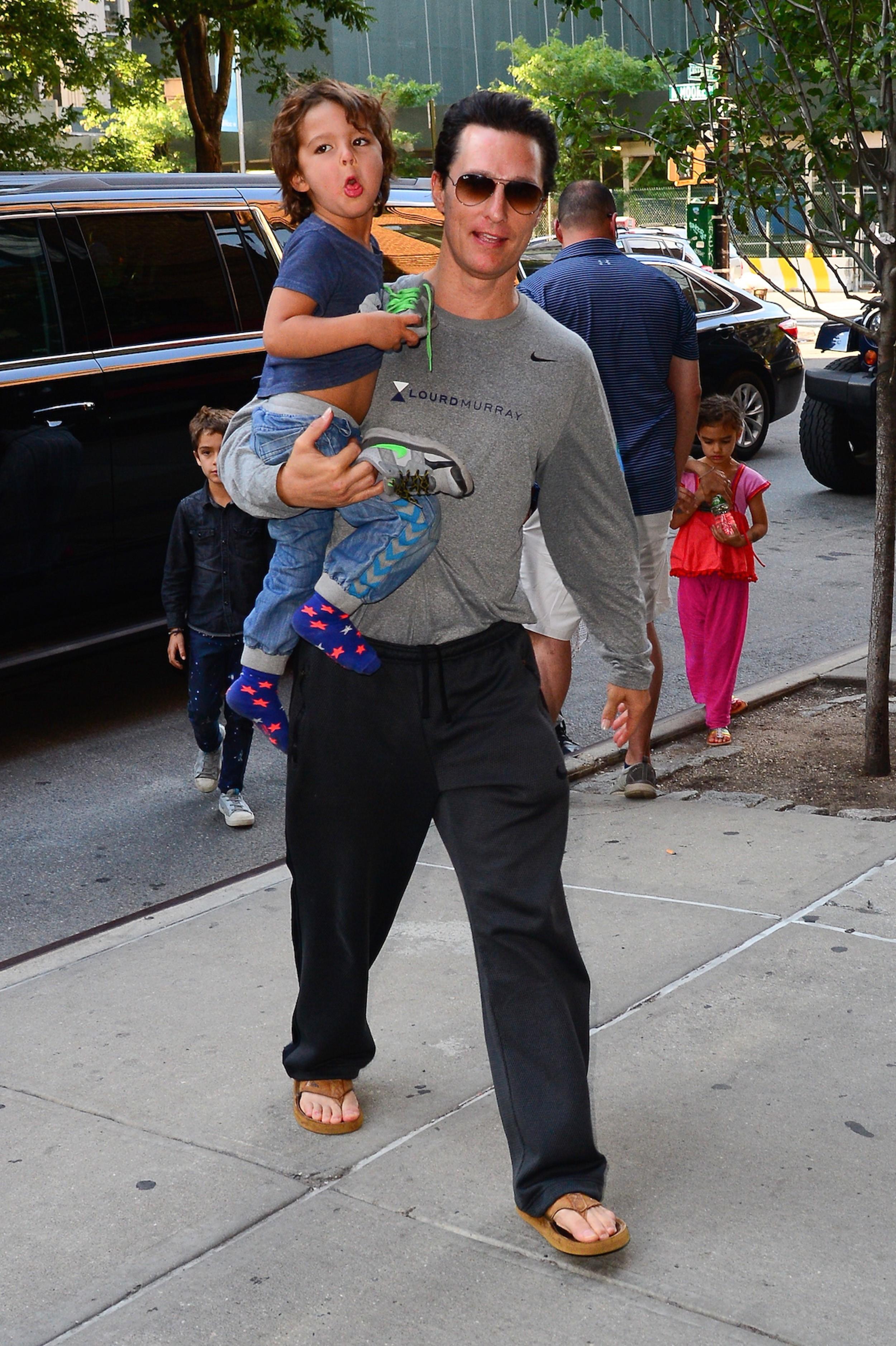 Matthew McConaughey, Camila Alves and their kids hit NYC