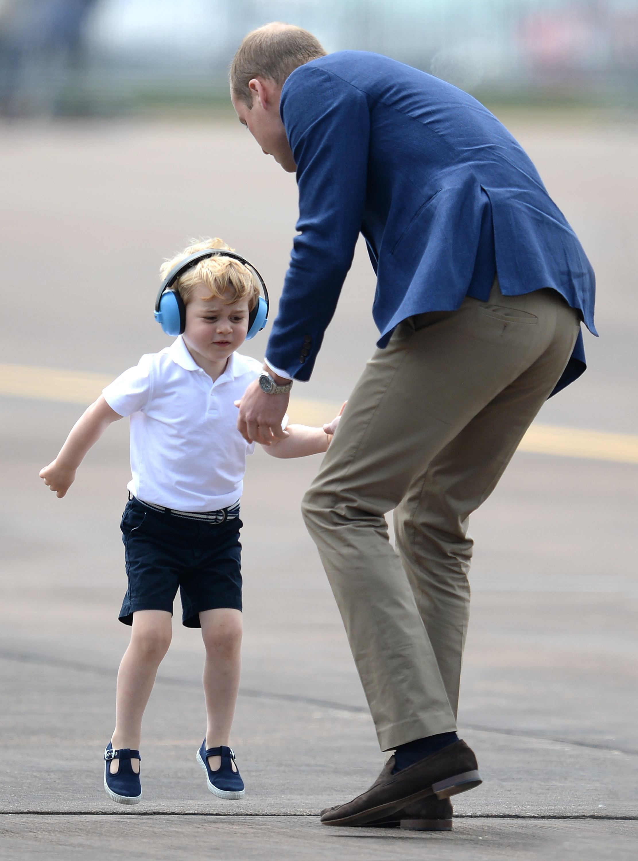 Prince George had a tantrum at his first official UK event