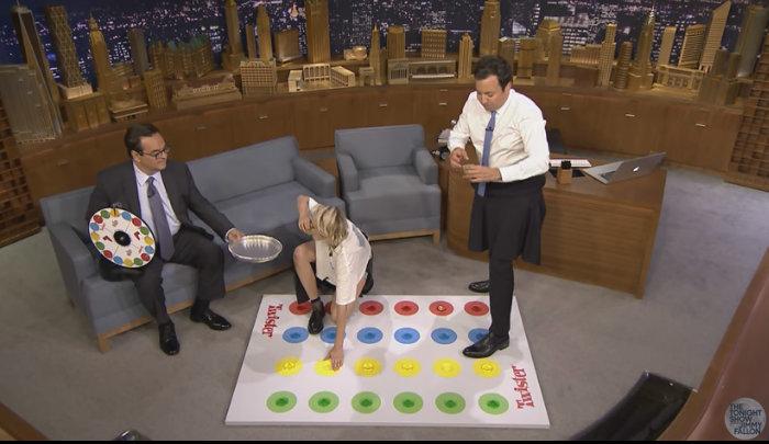 Jimmy Fallon plays Jello Shot Twister with Kristen Stewart