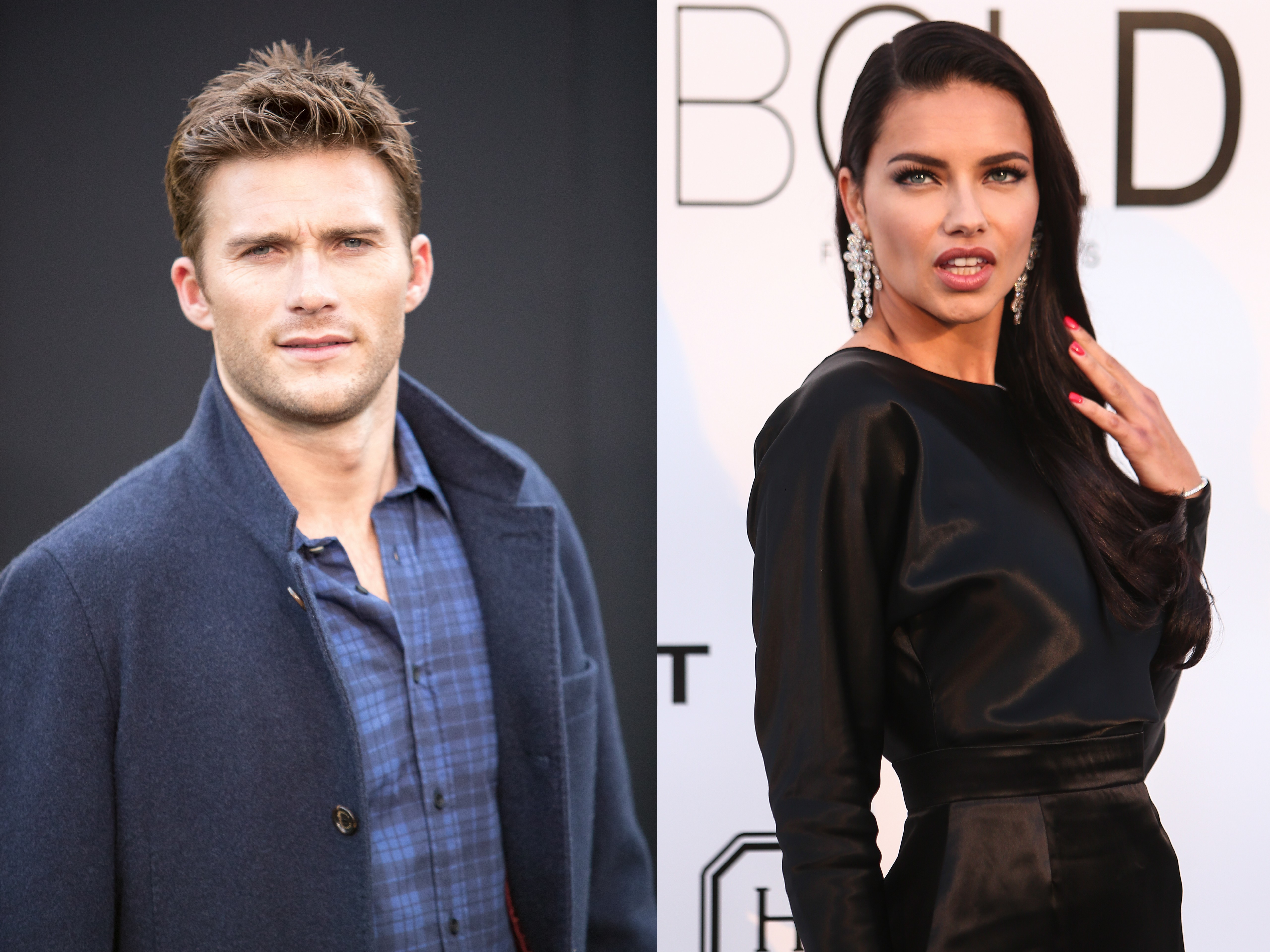 Scott Eastwood cozies up to Adriana Lima in NYC