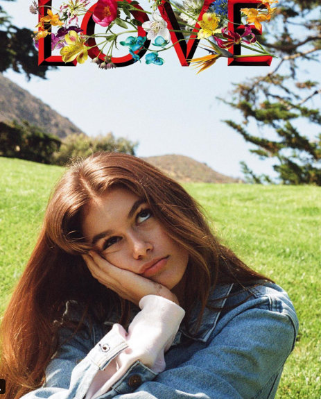 Kaia Gerber makes her Love magazine debut
