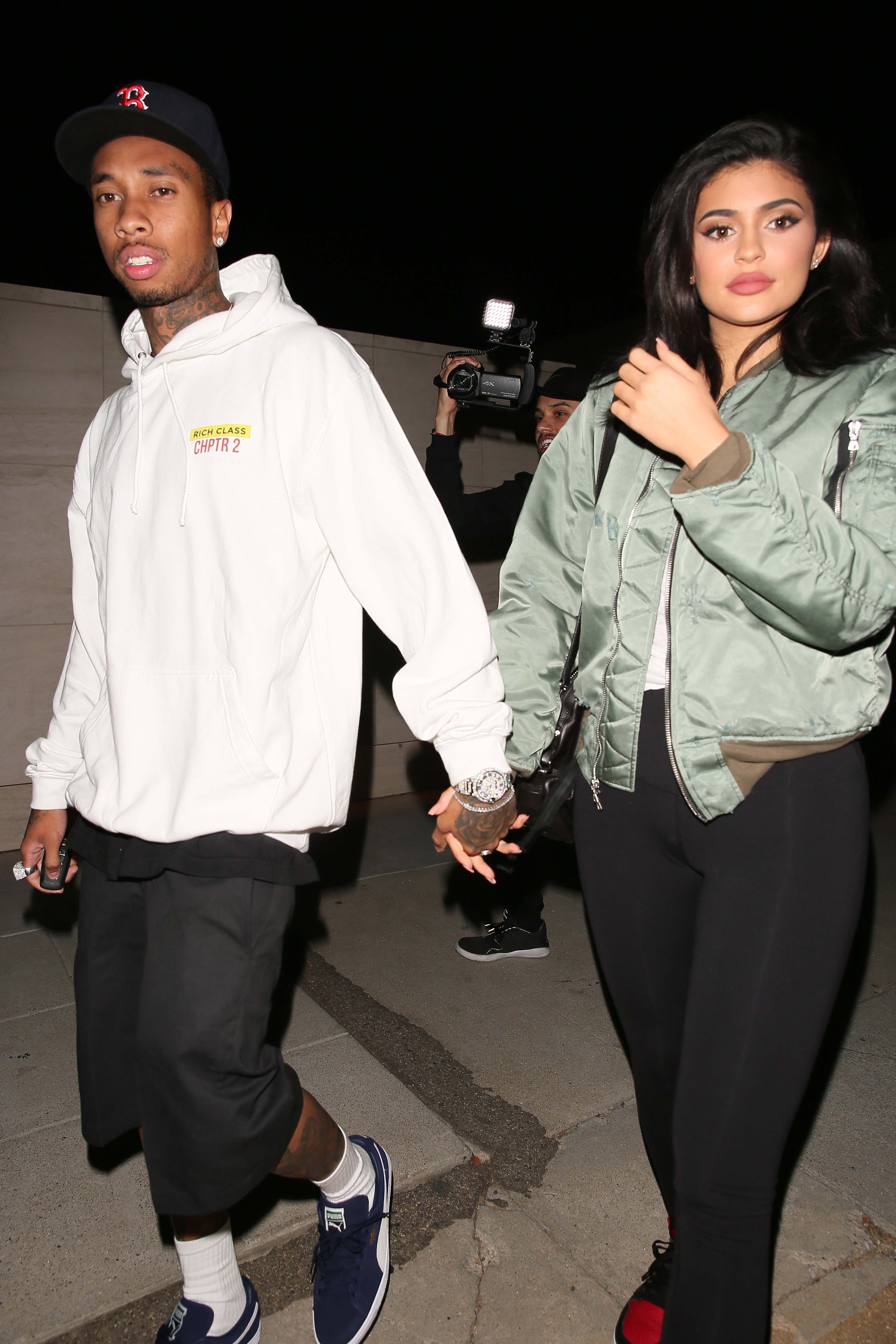 Kylie Jenner and Tyga celebrate his birthday with guns