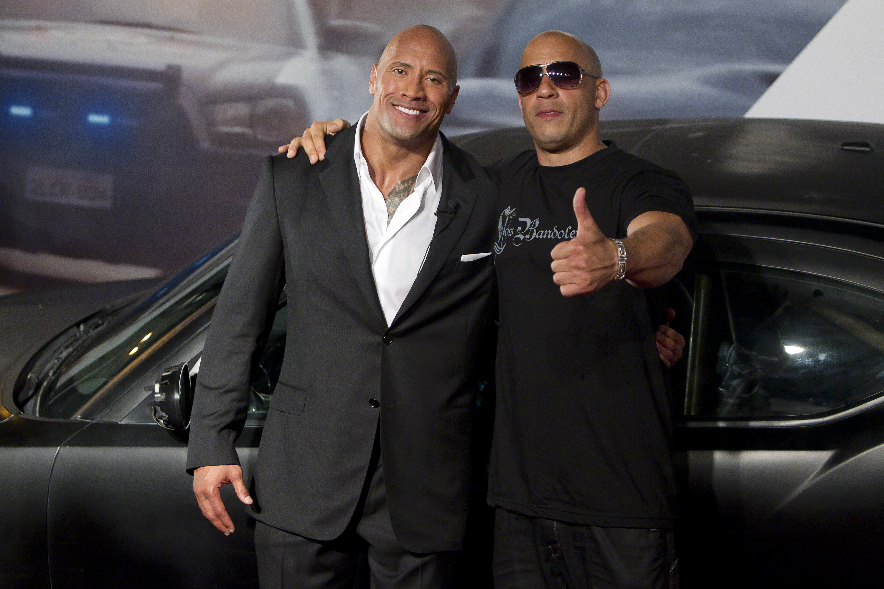 Is the feud between Vin Diesel and the Rock a publicity stunt?
