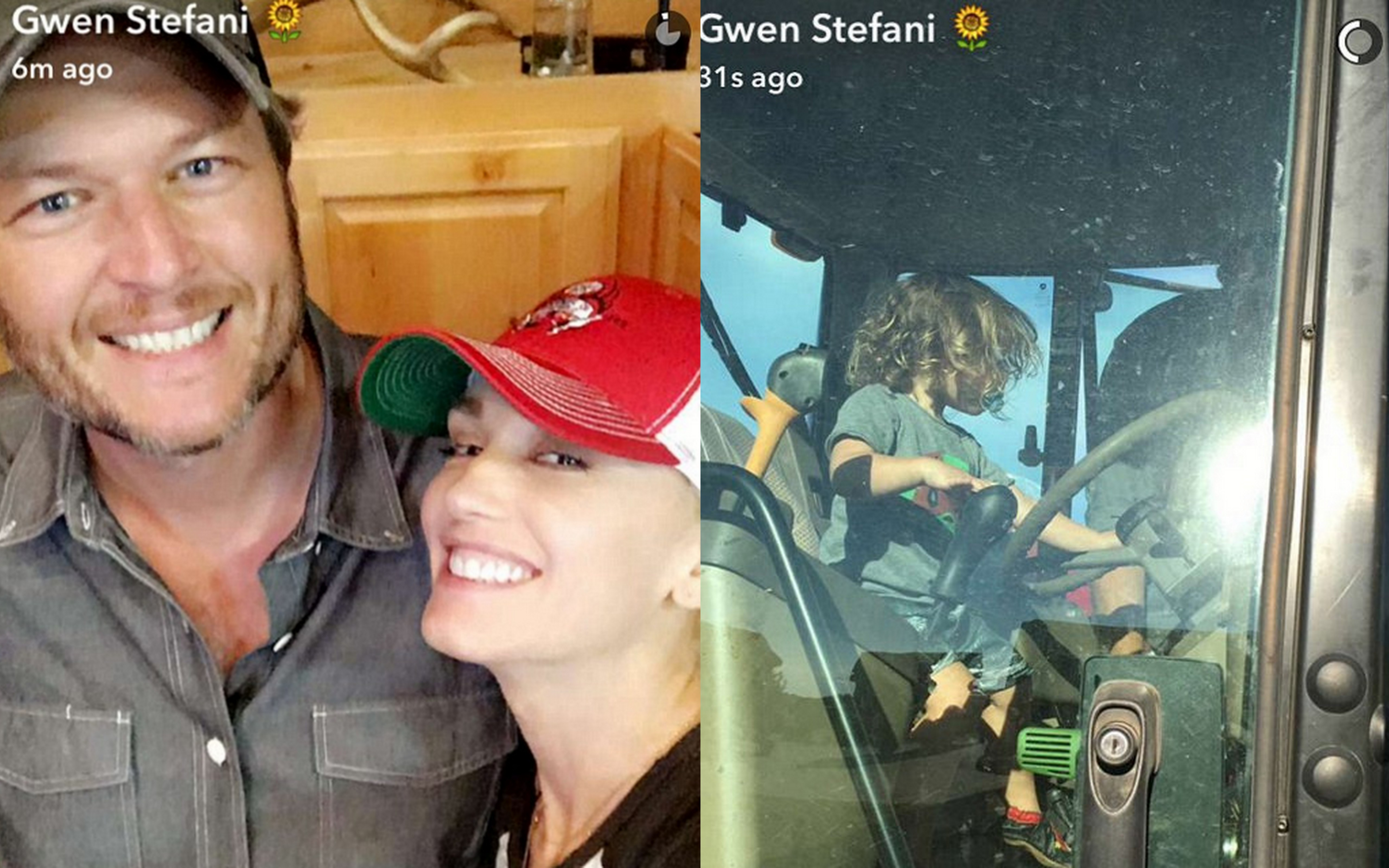 Gwen Stefani and her kids spend the day Blake Shelton's ranch
