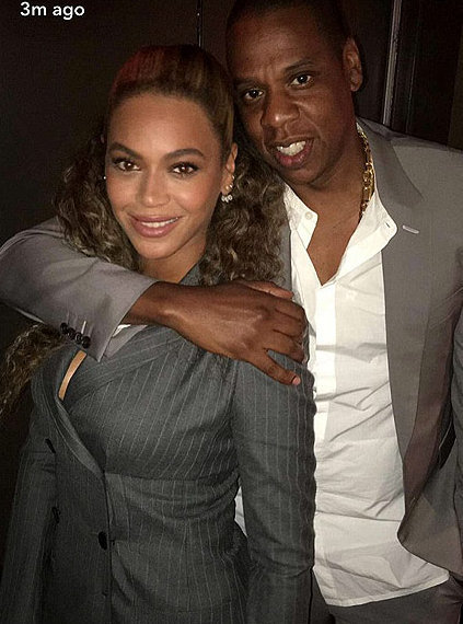 Beyonce and Jay Z wear matching suits to 'Hands of Stone' premiere