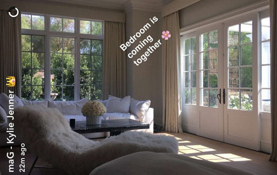 Kylie Jenner shares a pic of her newly furnished bedroom