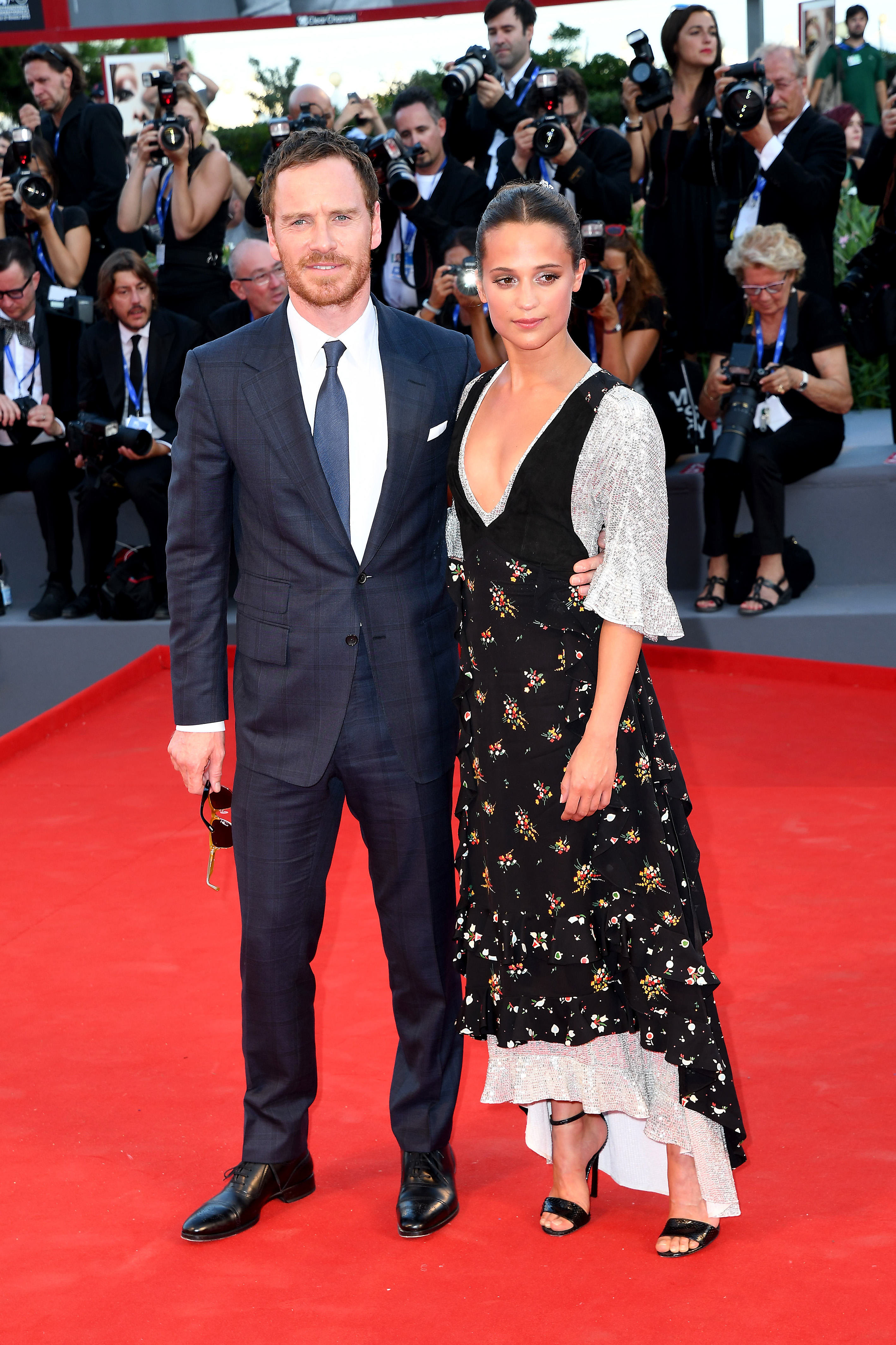 Michael Fassbender and Alicia Vikander go red carpet official